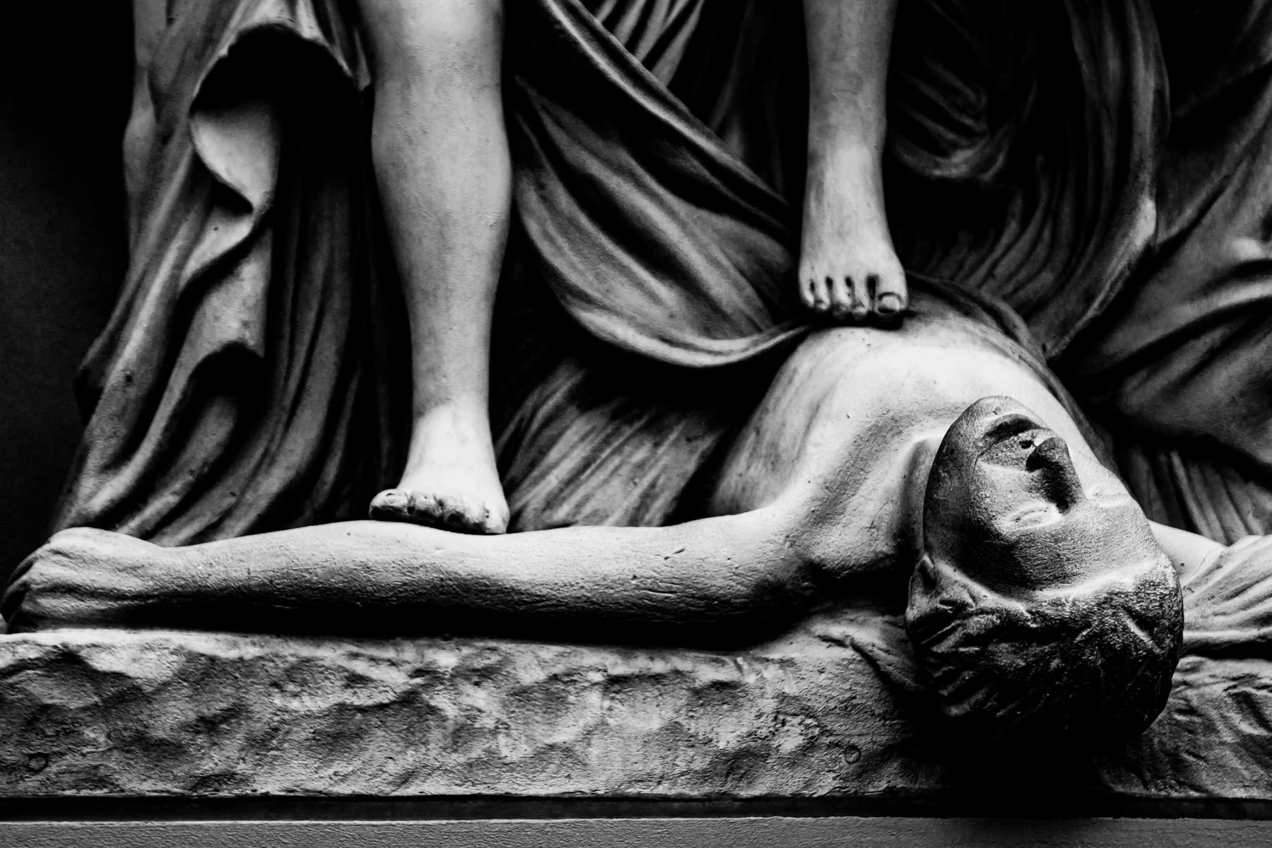 Detail of statues at Paris Hotel & Casino, Las Vegas.