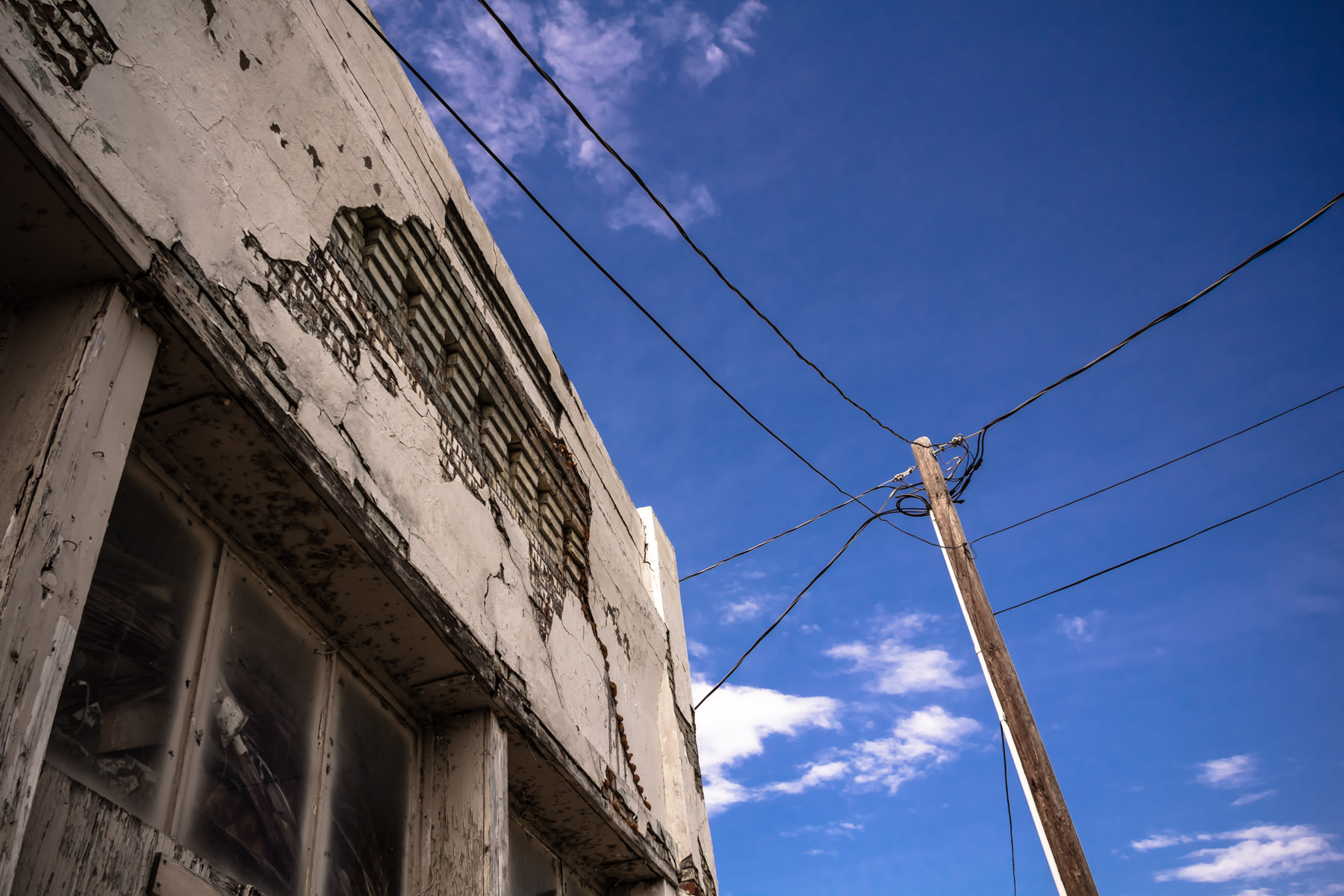Urban decay in McKinney, Texas.