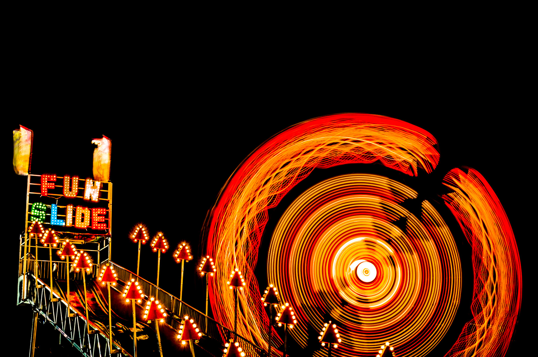 Another long exposure shot from the carnival at Addison Oktoberfest, Addison, Texas.