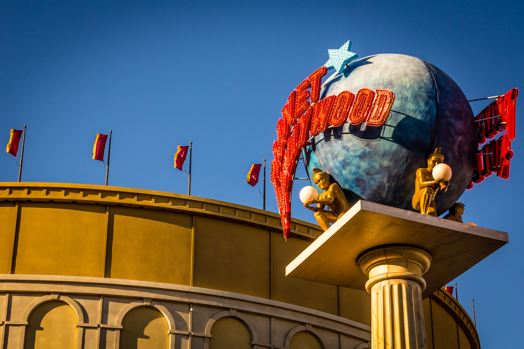The sign for the Planet Hollywood restaurant at Caesars Palace, Las Vegas.  (Curiously, the Planet Hollywood restaurant isn't located at the Planet Hollywood Hotel & Casino because of a long-term lease agreement.)