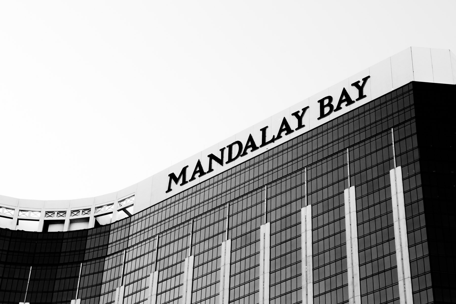 Exterior detail of Las Vegas' Mandalay Bay Hotel & Casino.