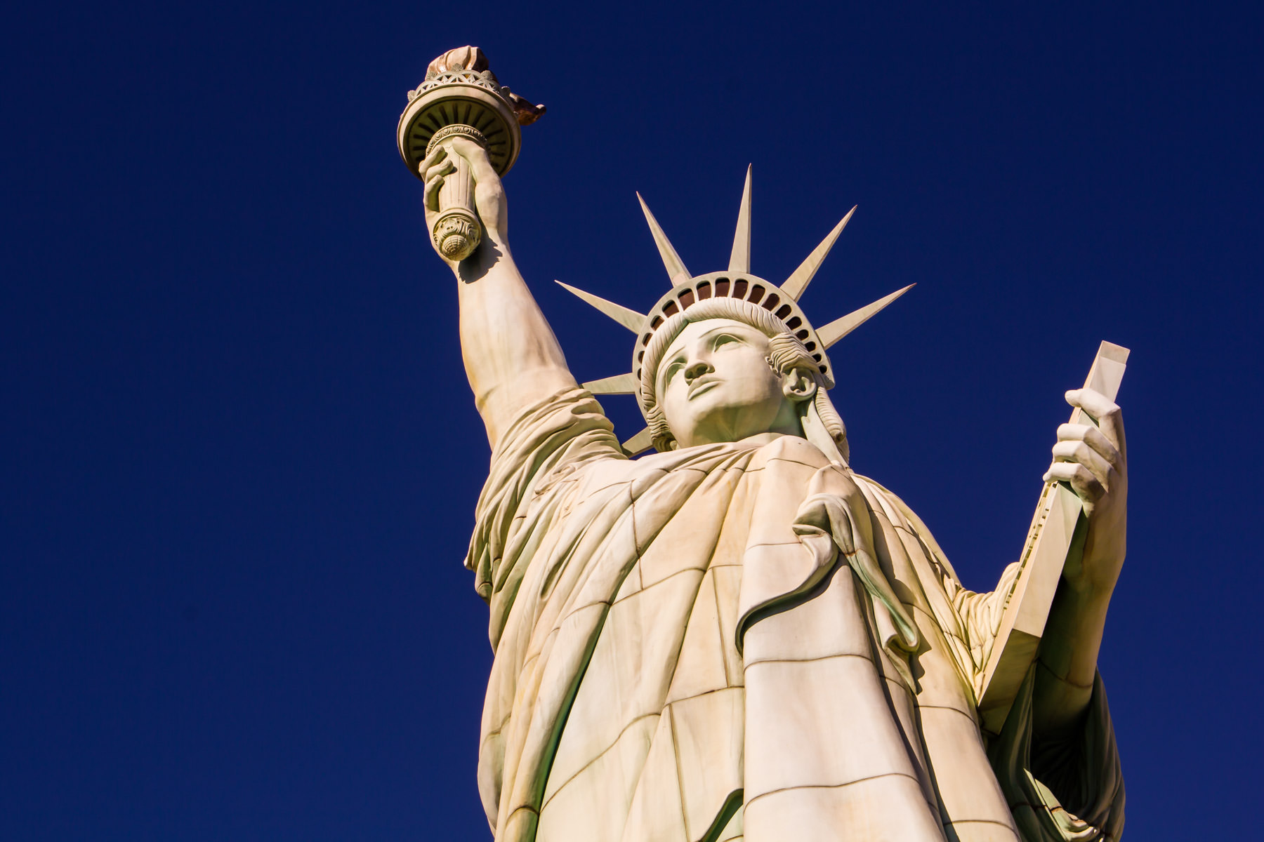The ersatz Statue of Liberty at Las Vegas' New York New York Hotel and Casino.