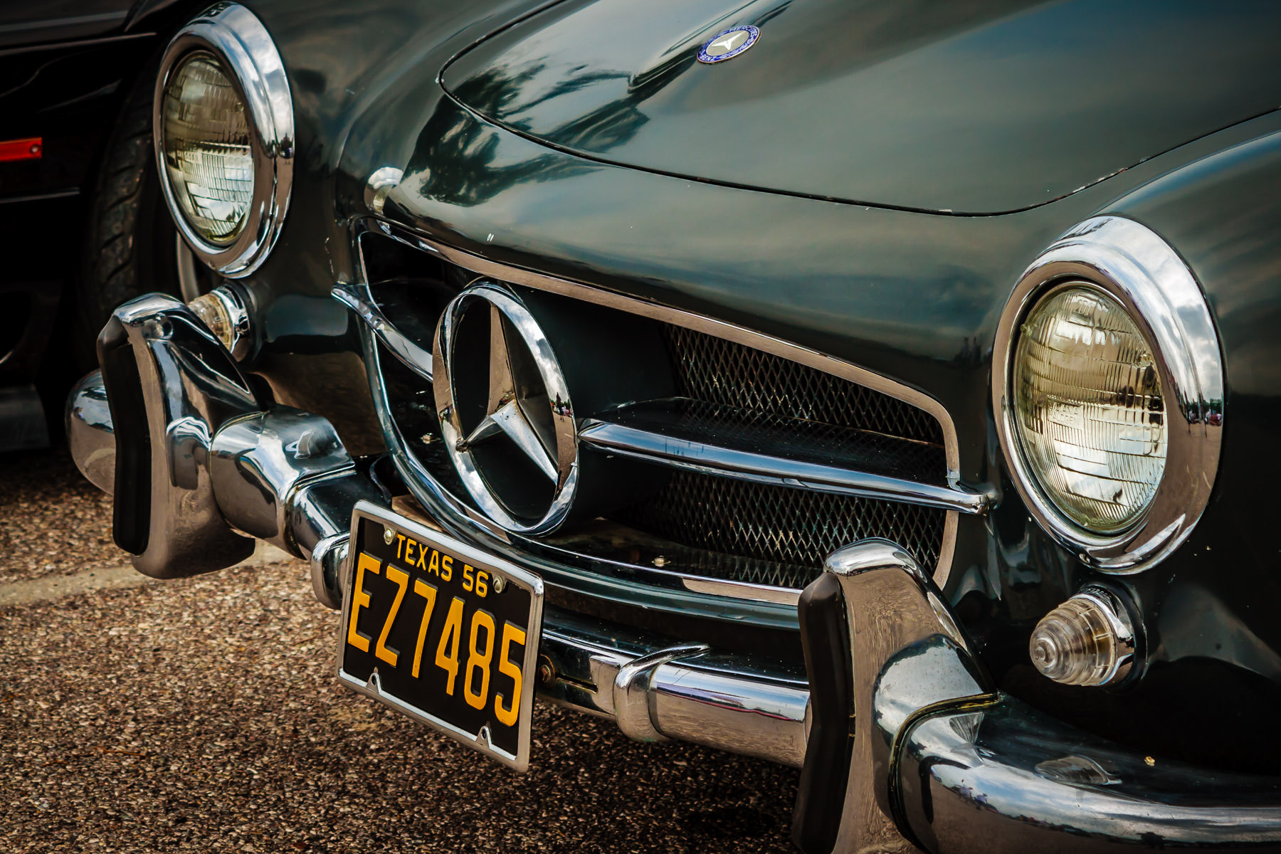 A classic Mercedes-Benz spotted somewhere in Dallas.