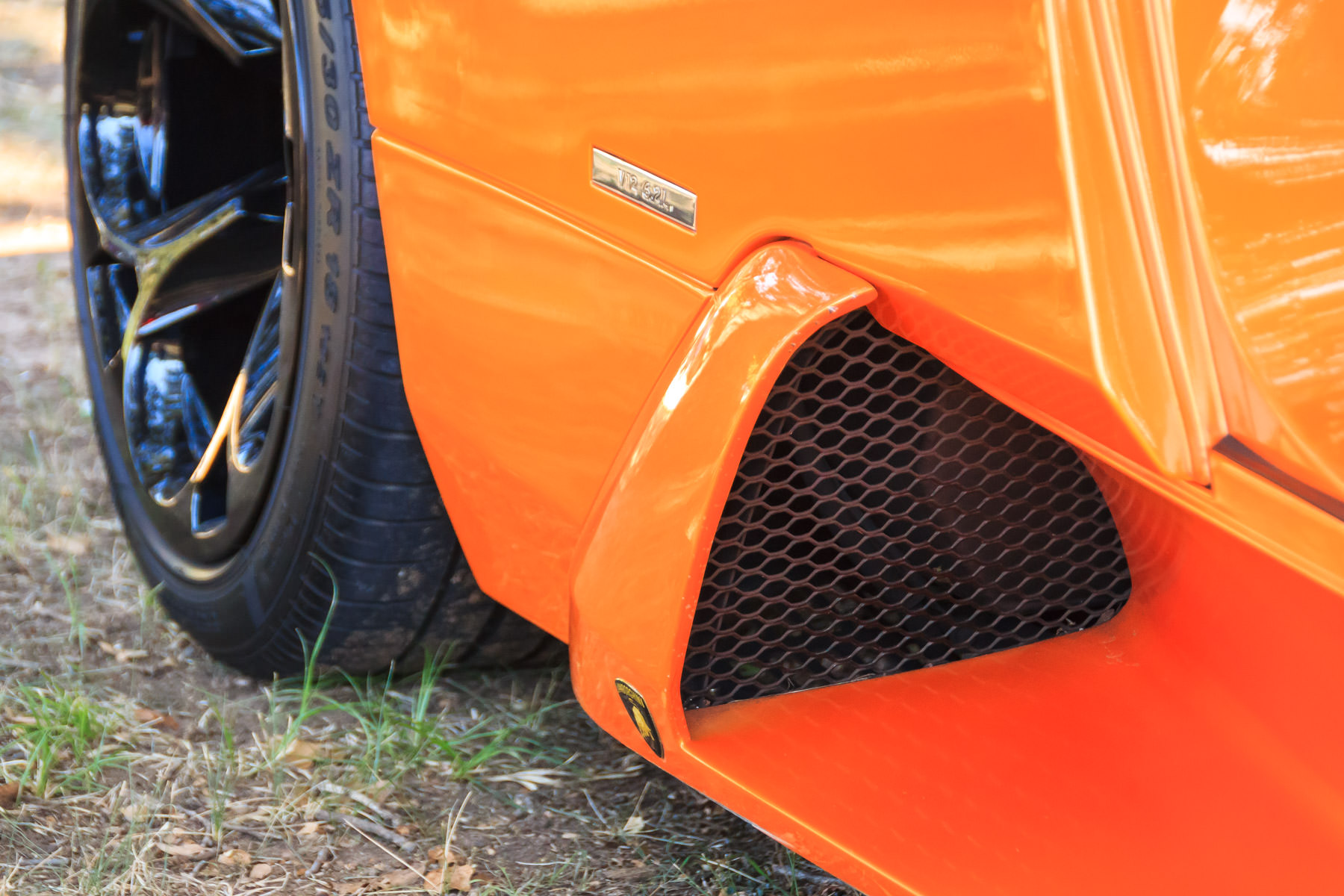 Detail of a Lamborghini Murciélago at ItalianCarFest in Grapevine, Texas.