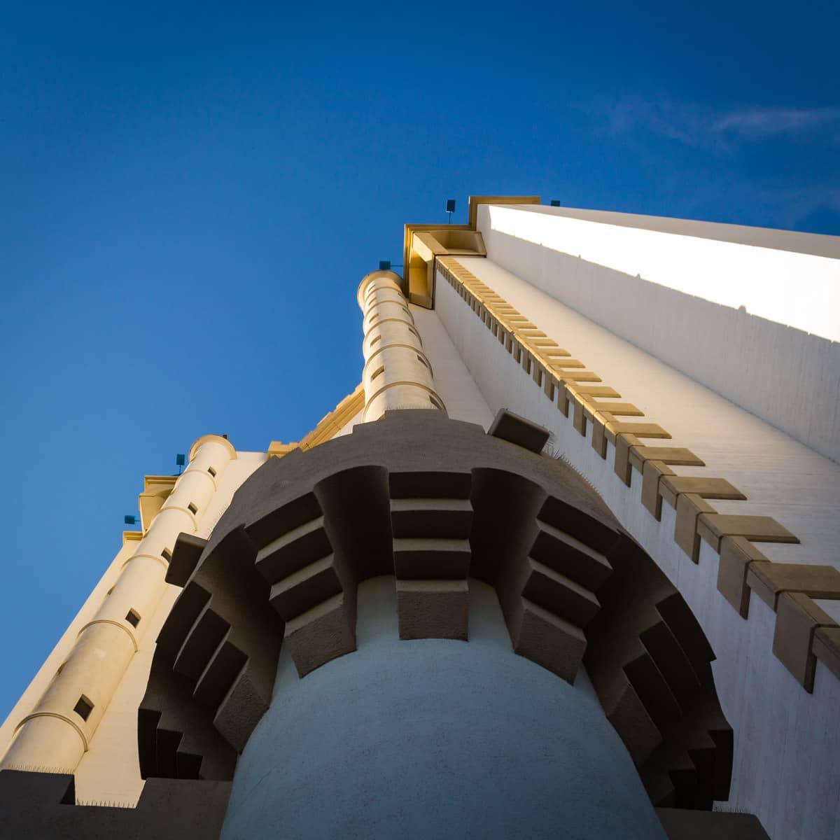 Exterior detail of the Excalibur Hotel and Casino, Las Vegas.