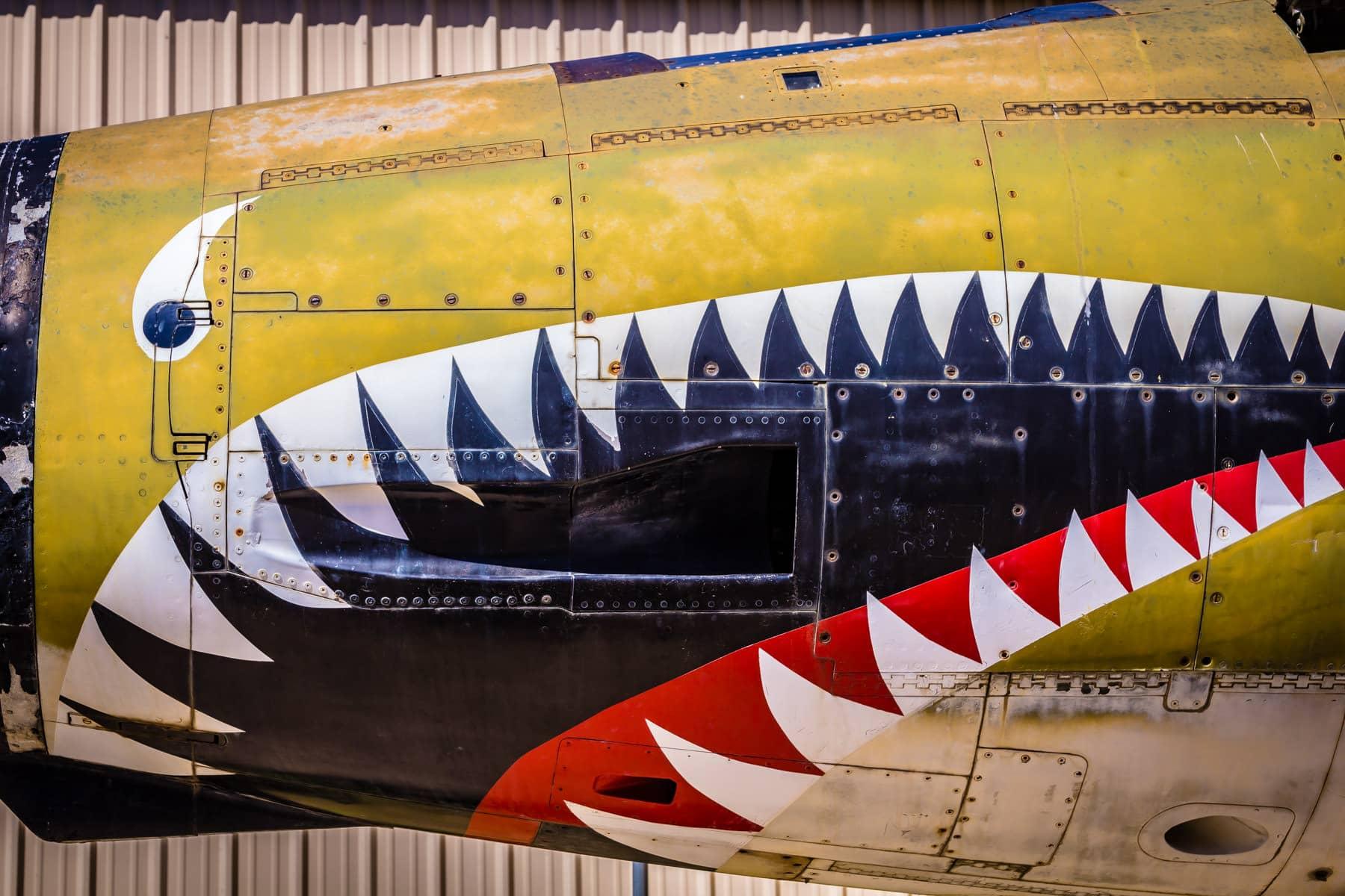 Nose art on a Republic F-105F Thunderchief at the Cavanaugh Flight Museum, Addison, Texas.