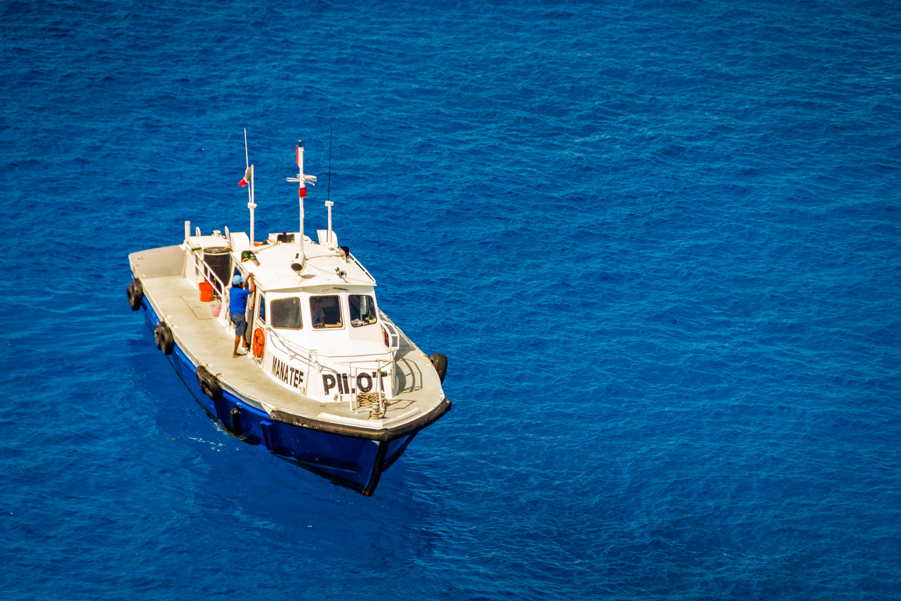 A port pilot's boat at Cozumel, Mexico.