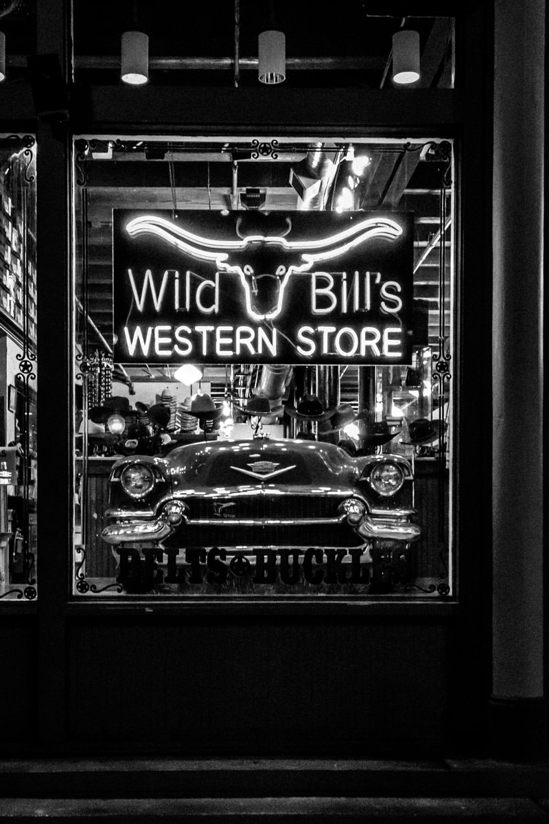 Wild Bill's Western Store, spotted in Dallas' West End Historical District.