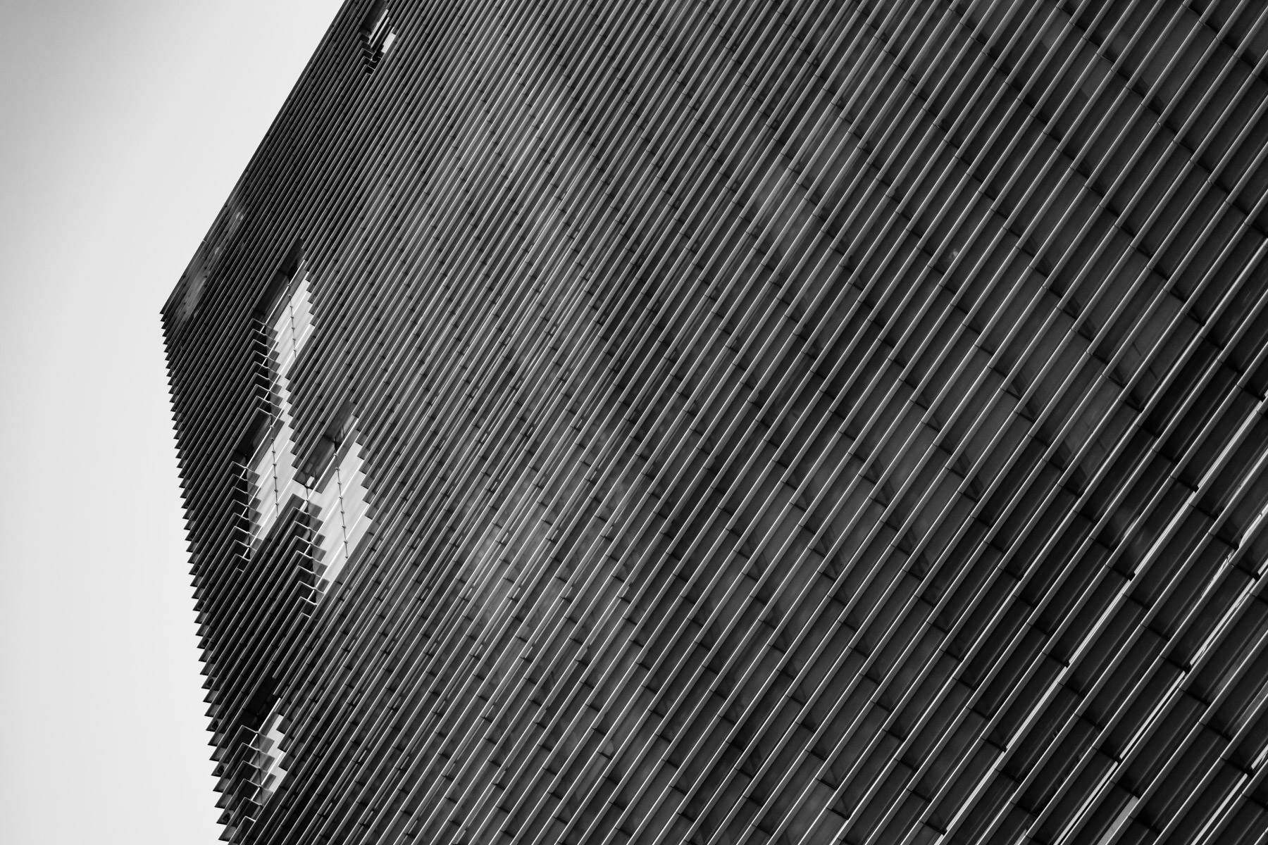 Exterior detail of the one of the Veer Towers, CityCenter, Las Vegas.