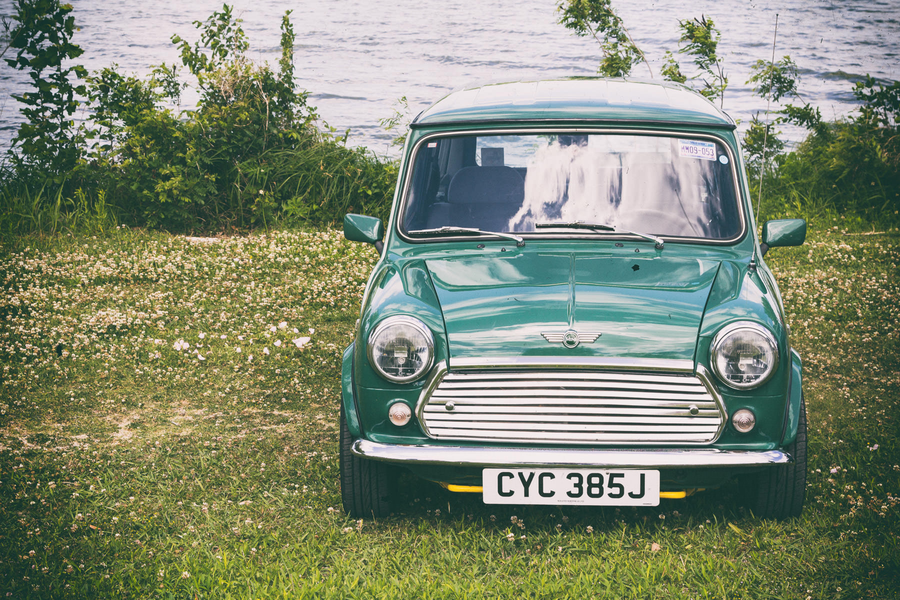 A classic Mini Cooper spotted at Dallas' All British and European Car Day.
