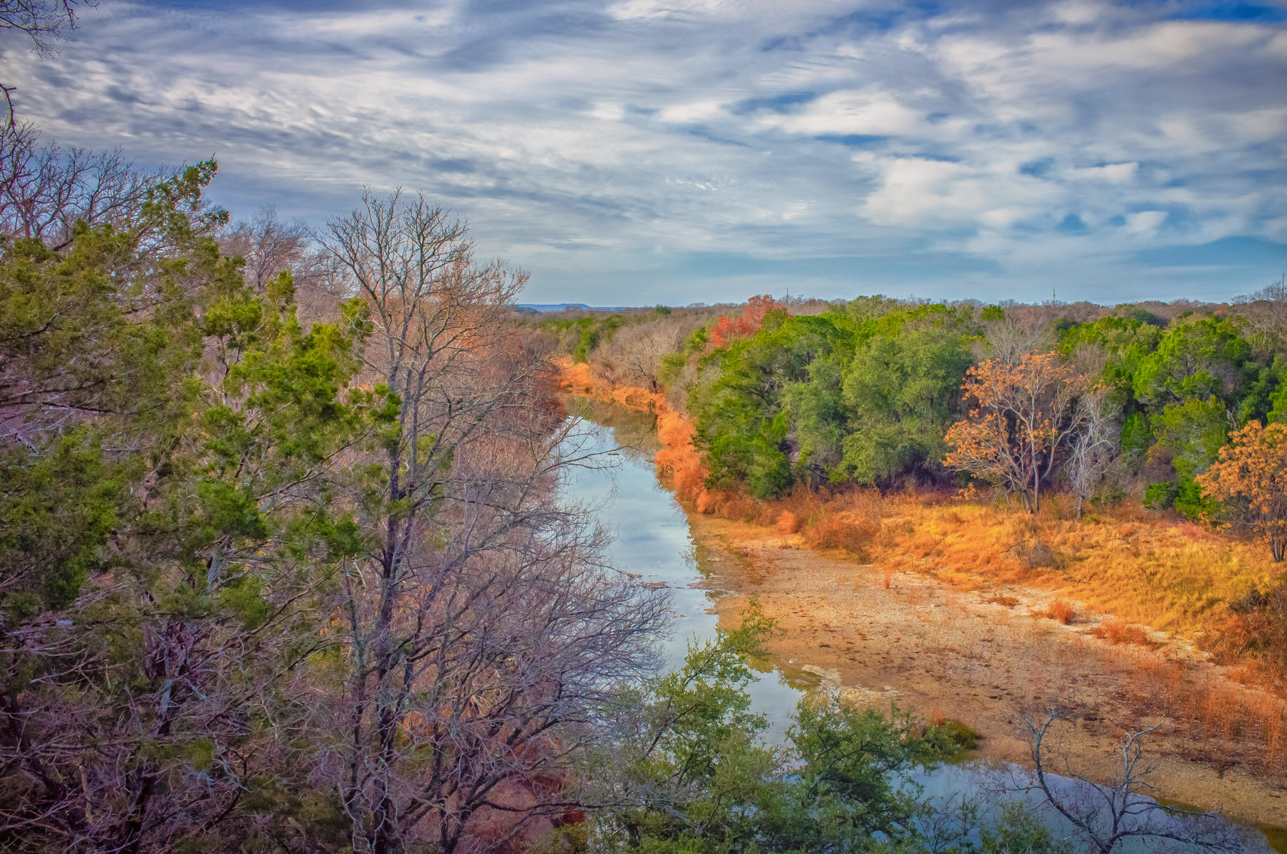 The Paluxy River snakes through Dinosaur Valley State Park near Glen Rose, Texas.