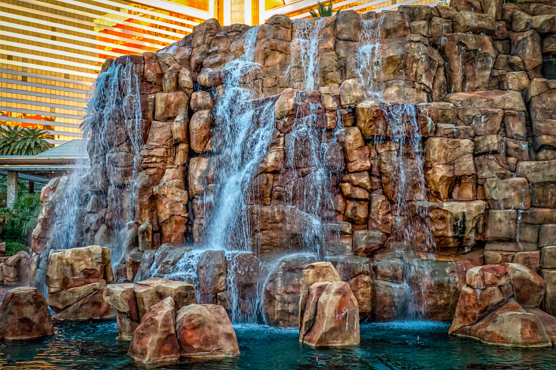 Waterfalls at The Mirage Hotel & Casino, Las Vegas.