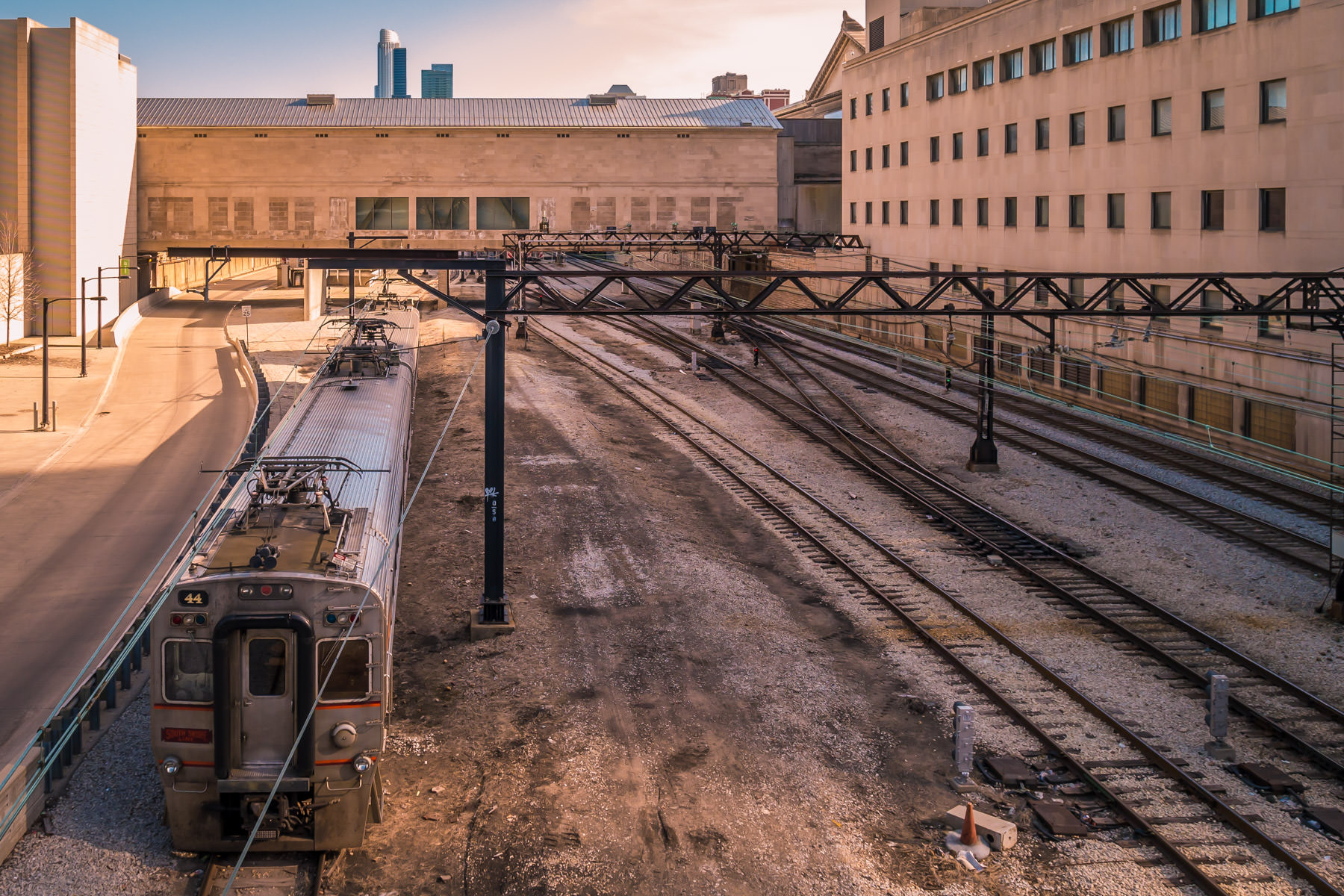 Metra Electric and South Shore Line tracks pass under the Art Institute of Chicago between Millennium Station and Van Buren Station.