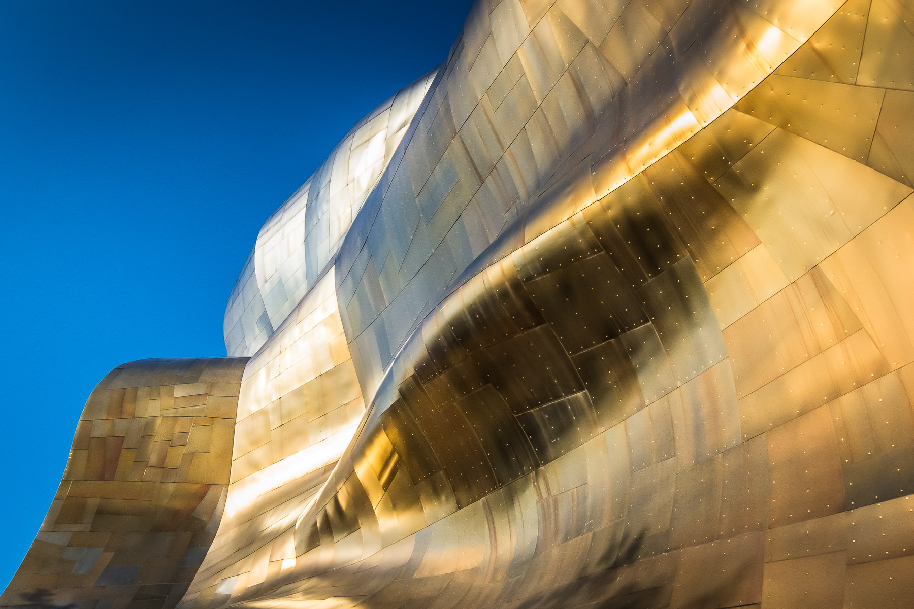 Architectural detail of the Frank Gehry-designed Experience Music Project, Seattle.