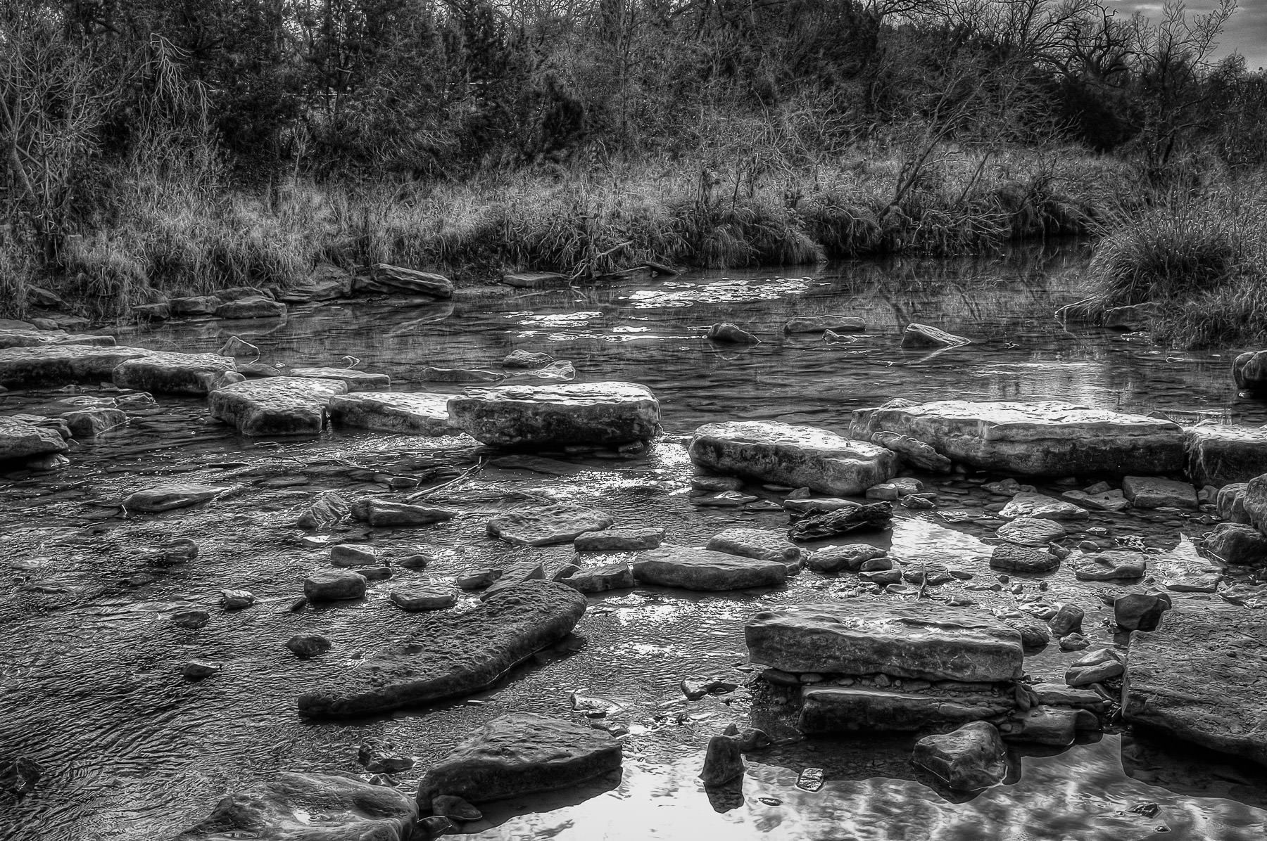 The Paluxy River flows through Texas' Dinosaur Valley State Park.