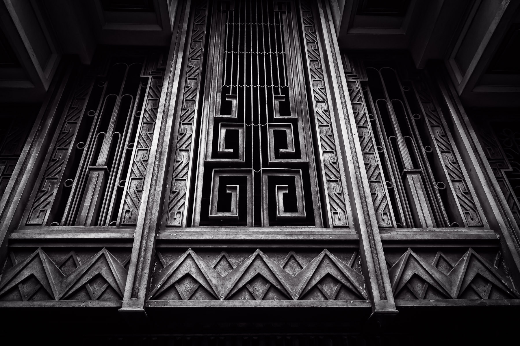 Architectural detail of Fort Worth, Texas' Sinclair Building, built in 1930 and once the headquarters of the Sinclair-Prairie Oil Company.