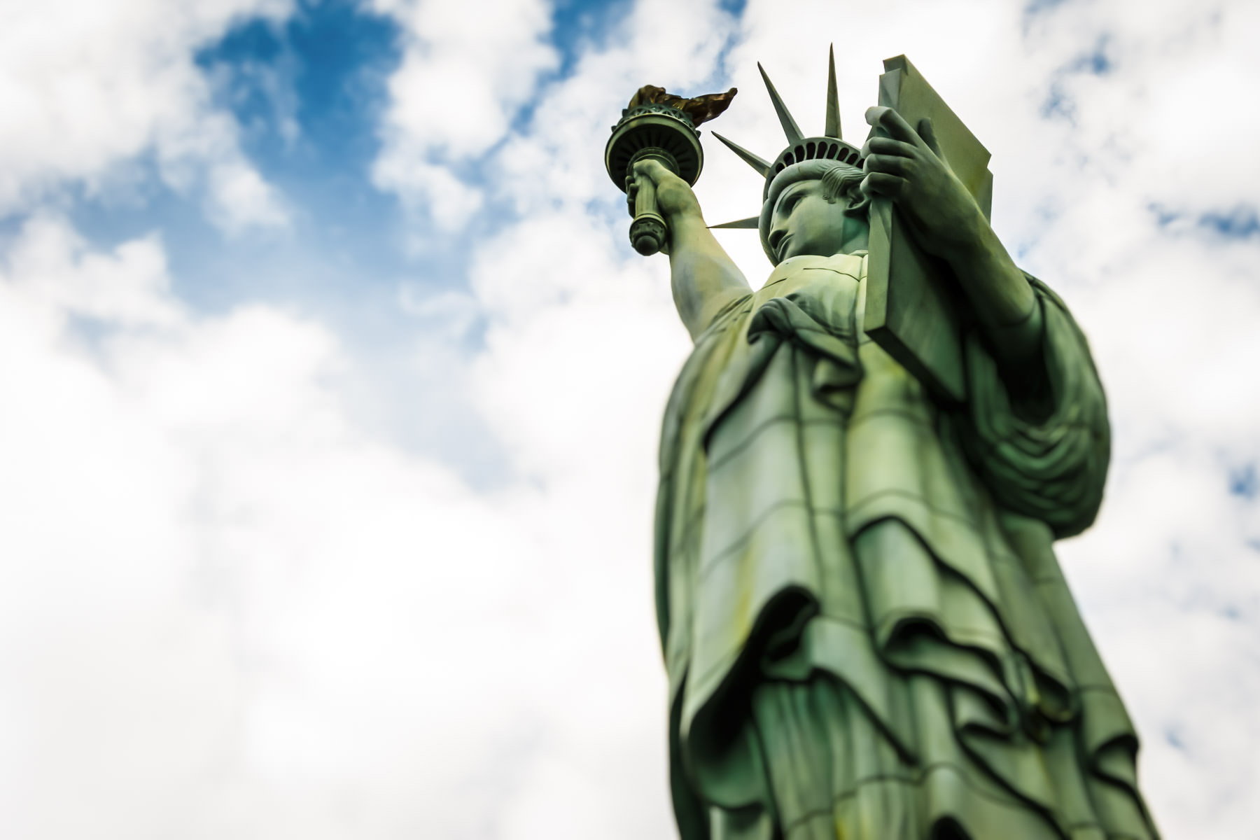 The reproduction of the Statue of Liberty at Las Vegas' New York New York Hotel and Casino.