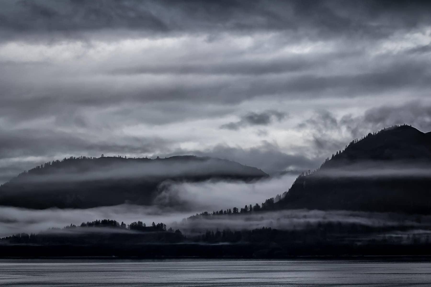 A fog-shrouded island seems to be full of mystery in Alaska's Glacier Bay National Park.