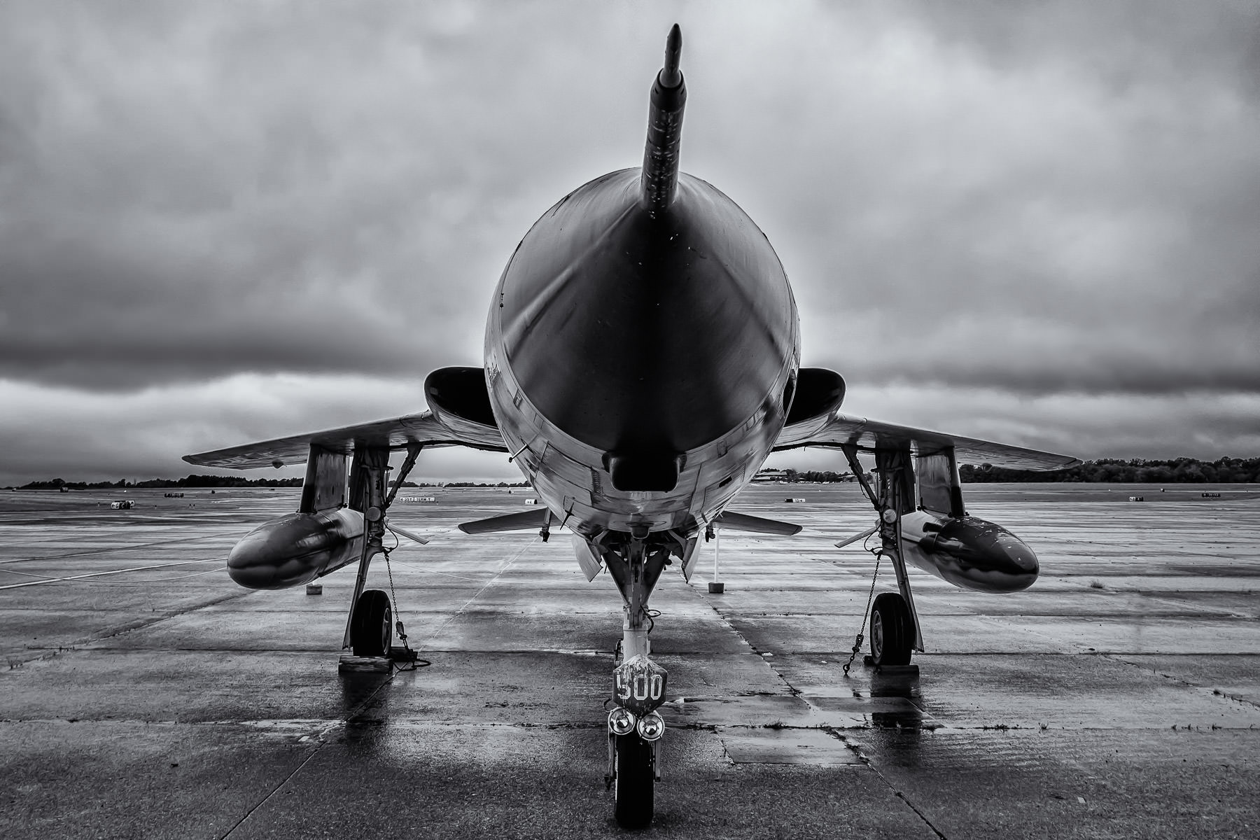"""A Republic F-105D-10-RE """"Thunderchief"""" belonging to the Historic Aviation Memorial Museum at Tyler, Texas' Pounds Regional Airport."""