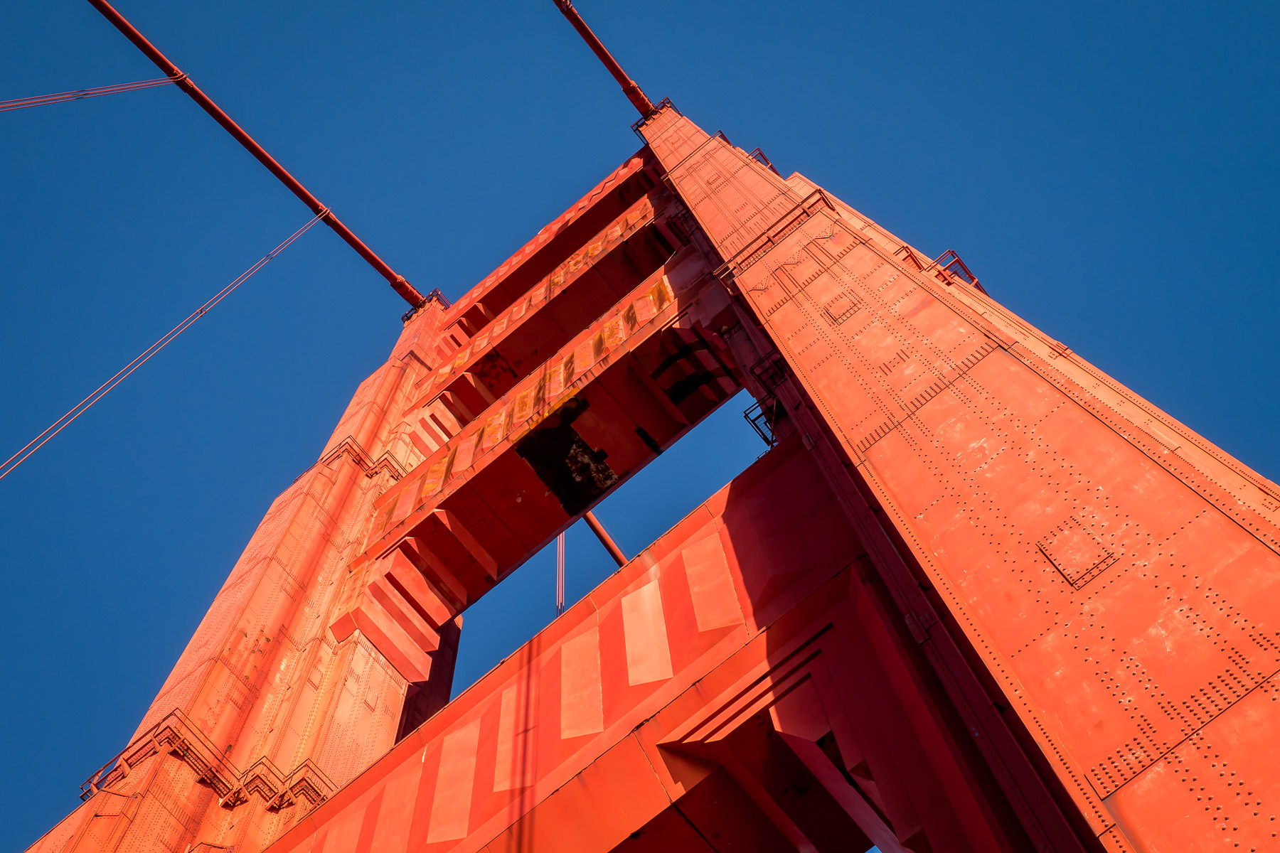 The 746-foot-tall (220 meters) south tower of San Francisco's iconic Golden Gate Bridge.