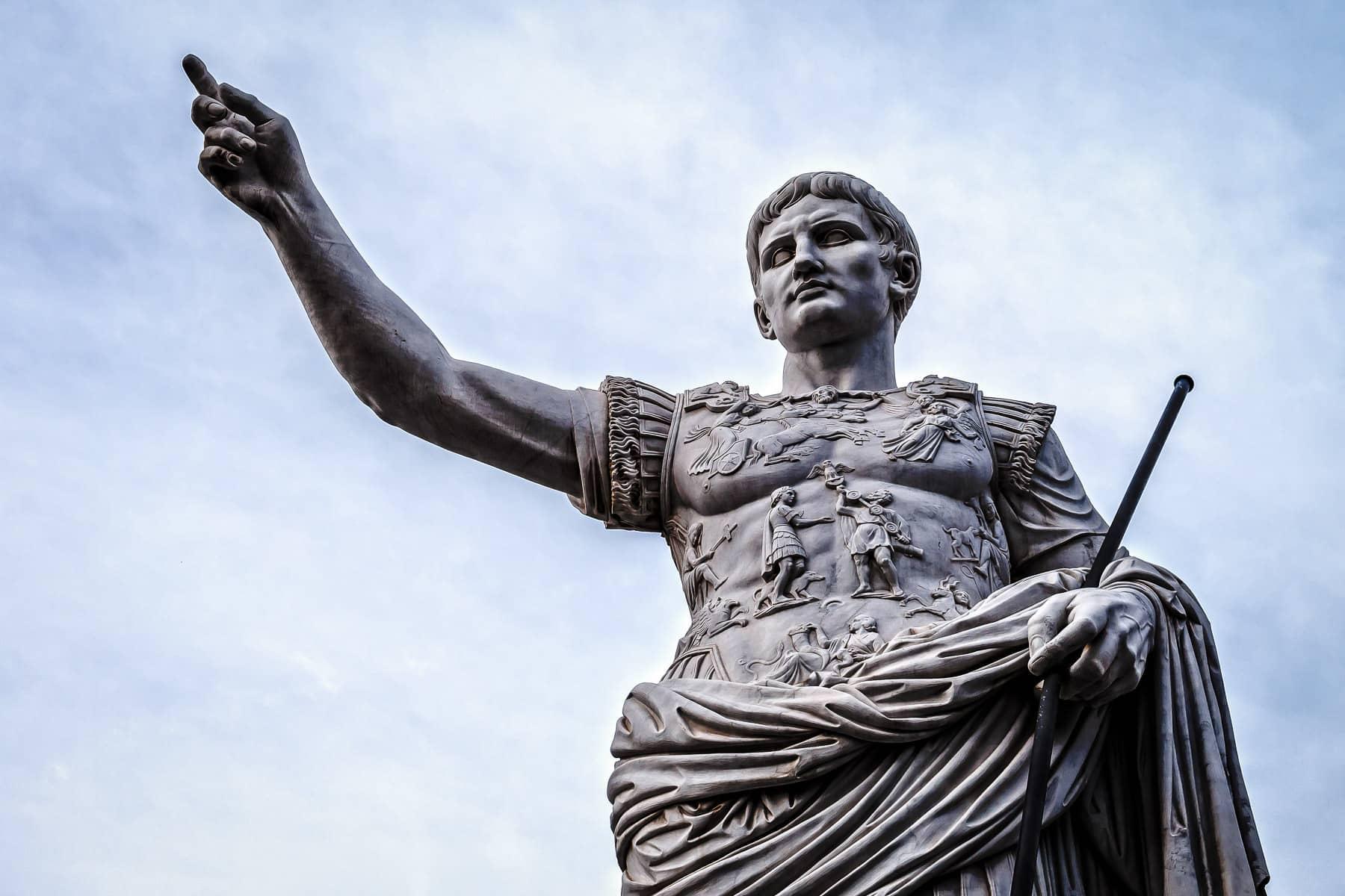 A statue of Julius Caesar at Caesars Palace, Las Vegas.