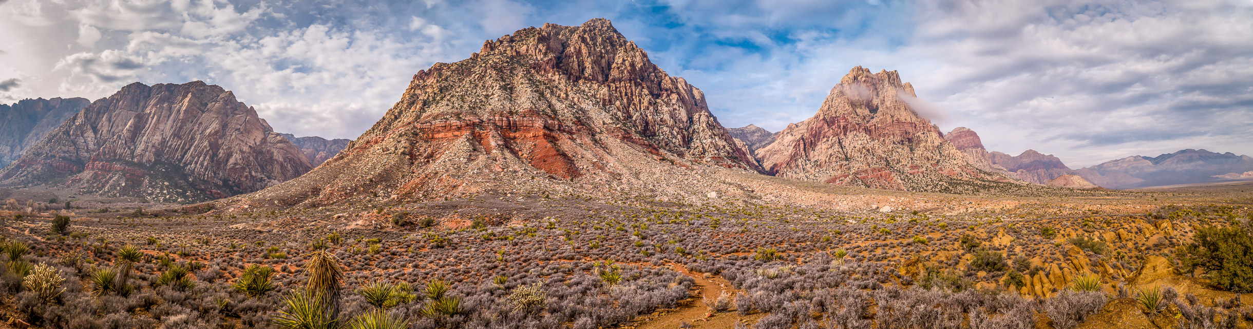 A panoramic view of the Spring Mountains at Spring Mountain Ranch State Park just outside of Las Vegas.