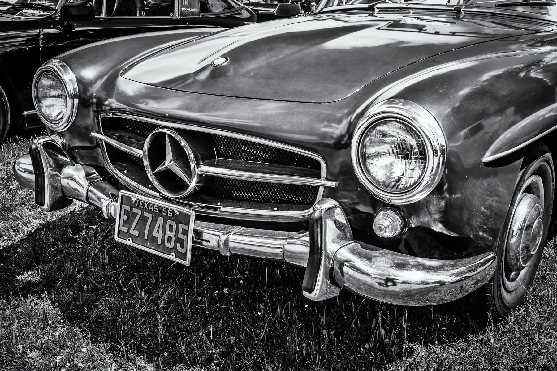 A classic 1956 Mercedes-Benz 190SL, on display at Dallas' All British and European Car Day.
