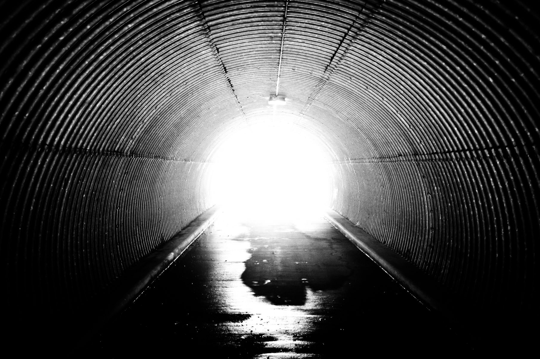 Inside a pedestrian tunnel under Stonebridge Drive in McKinney, Texas.