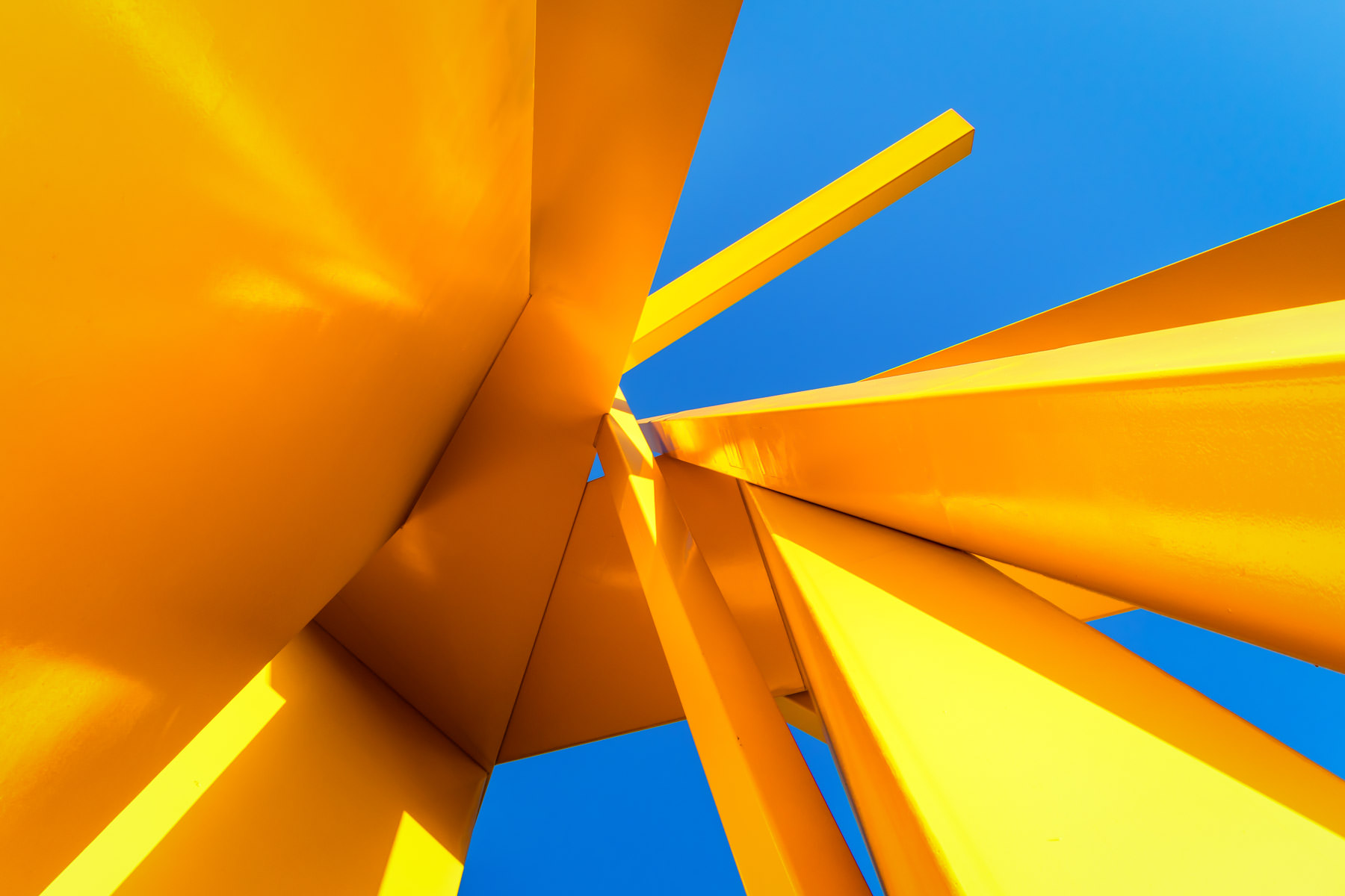 "Detail of sculptor John Henry's 101-foot-tall ""Tatlin's Sentinel"", installed in Downtown Dallas."