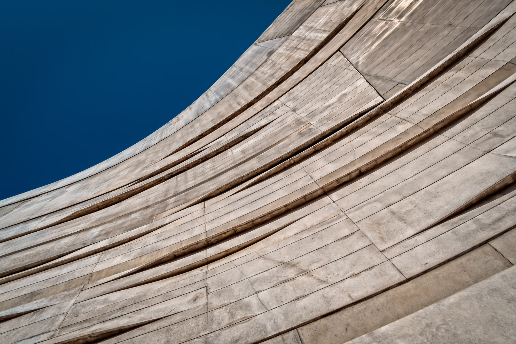 Architectural detail of Dallas' Perot Museum of Nature and Science.