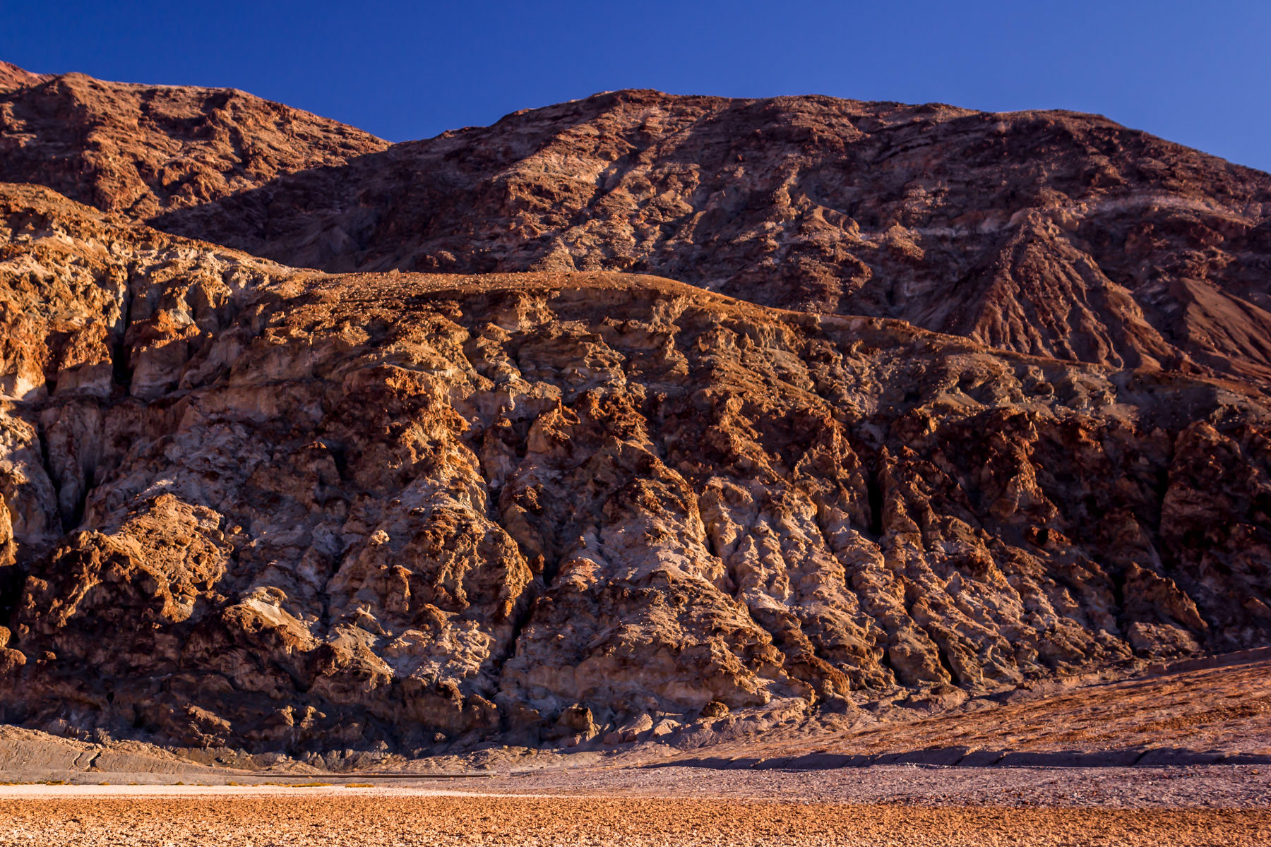 The arid landscape of California's Death Valley National Park.