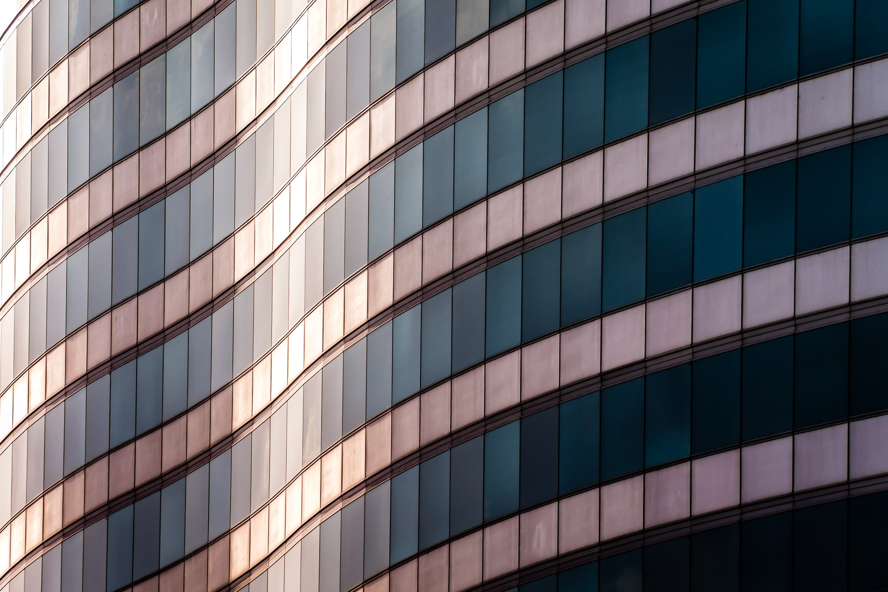Abstract detail of the 22-story 600 Las Colinas tower in Las Colinas, Irving, Texas.