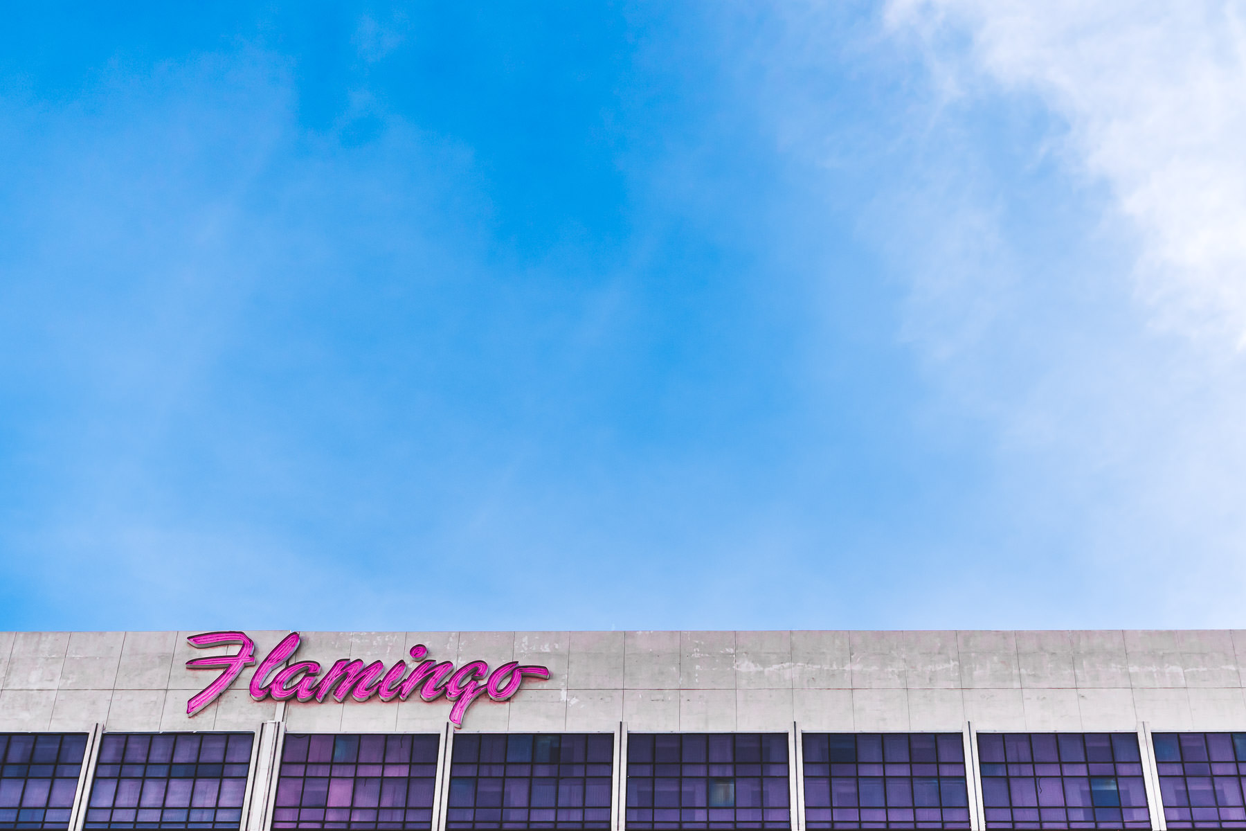 The sign atop on of the hotel towers at the Flamingo Las Vegas Resort.