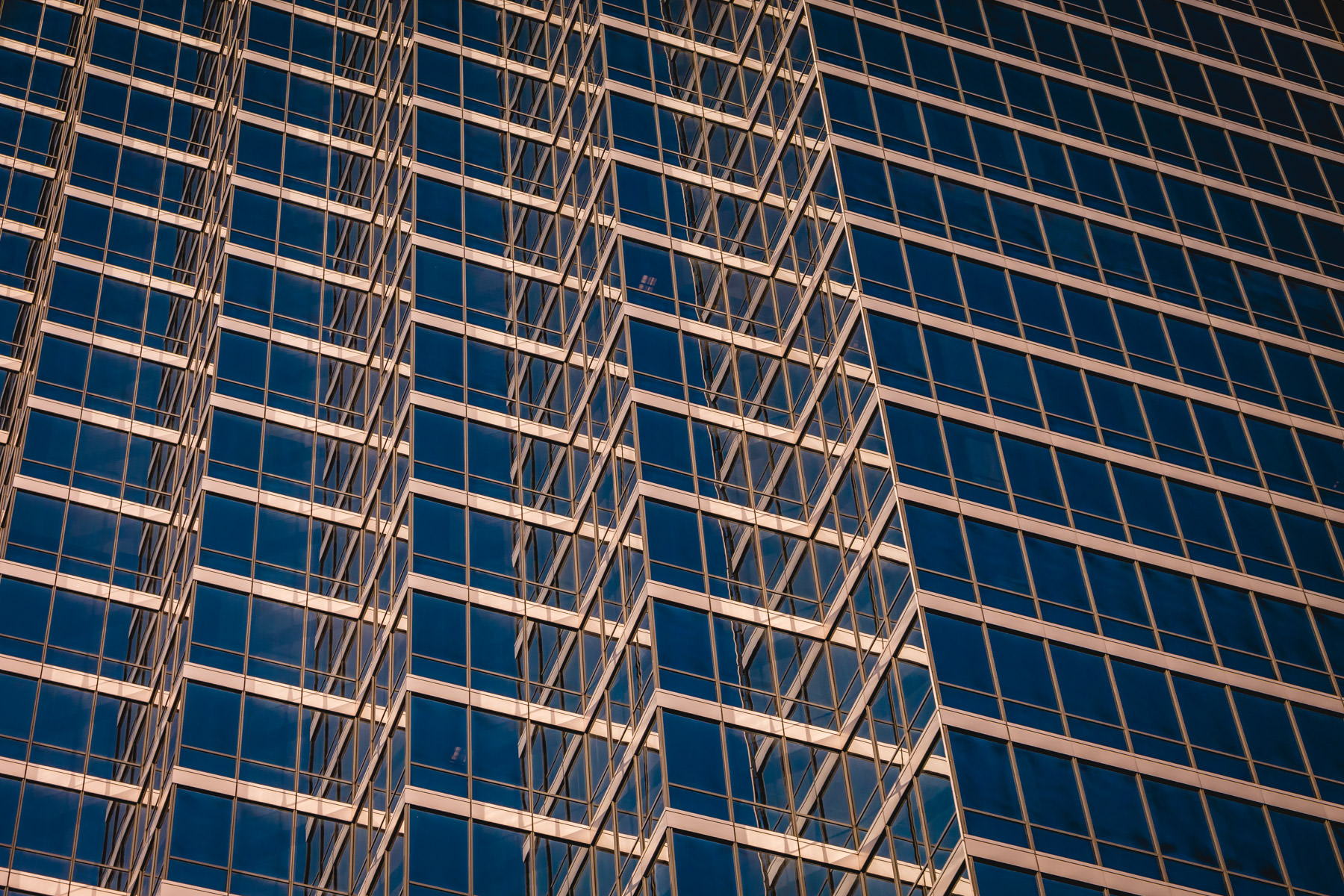 Abstract architectural detail of Downtown Dallas' Bank of America Plaza.