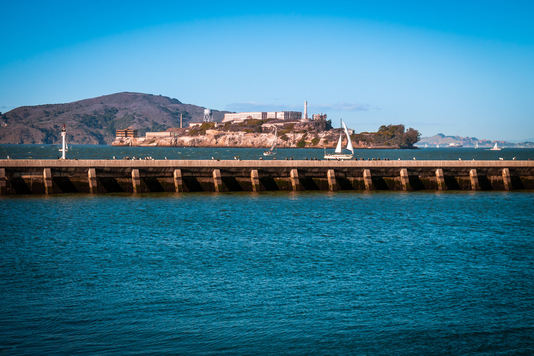 Alcatraz Island as seen from San Francisco's Aquatic Park.