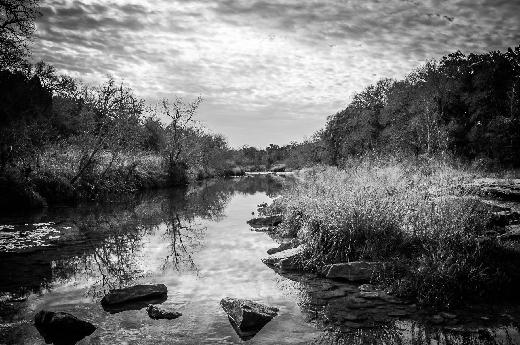 The Paluxy River flows through Texas' Dinosaur Valley State Park.