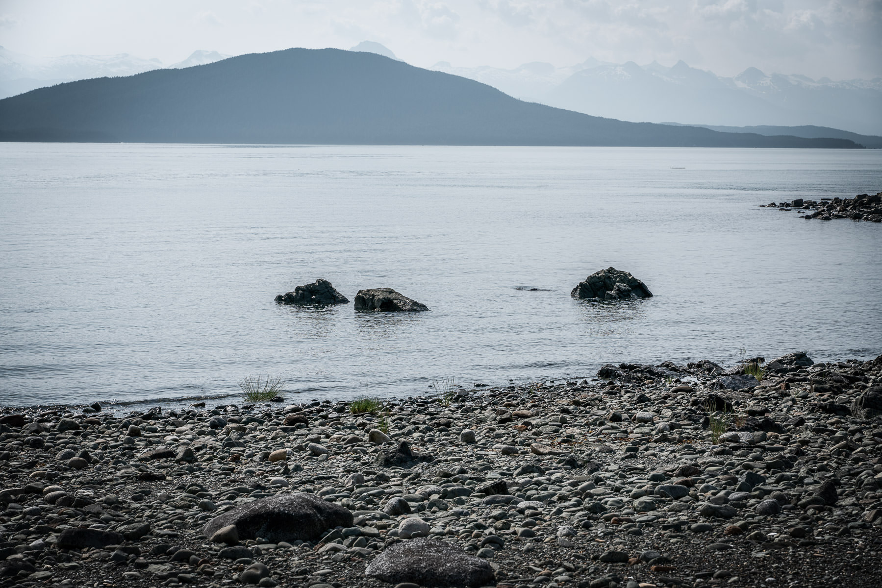Rocks along the shore line of Favorite Channel near Juneau, Alaska.