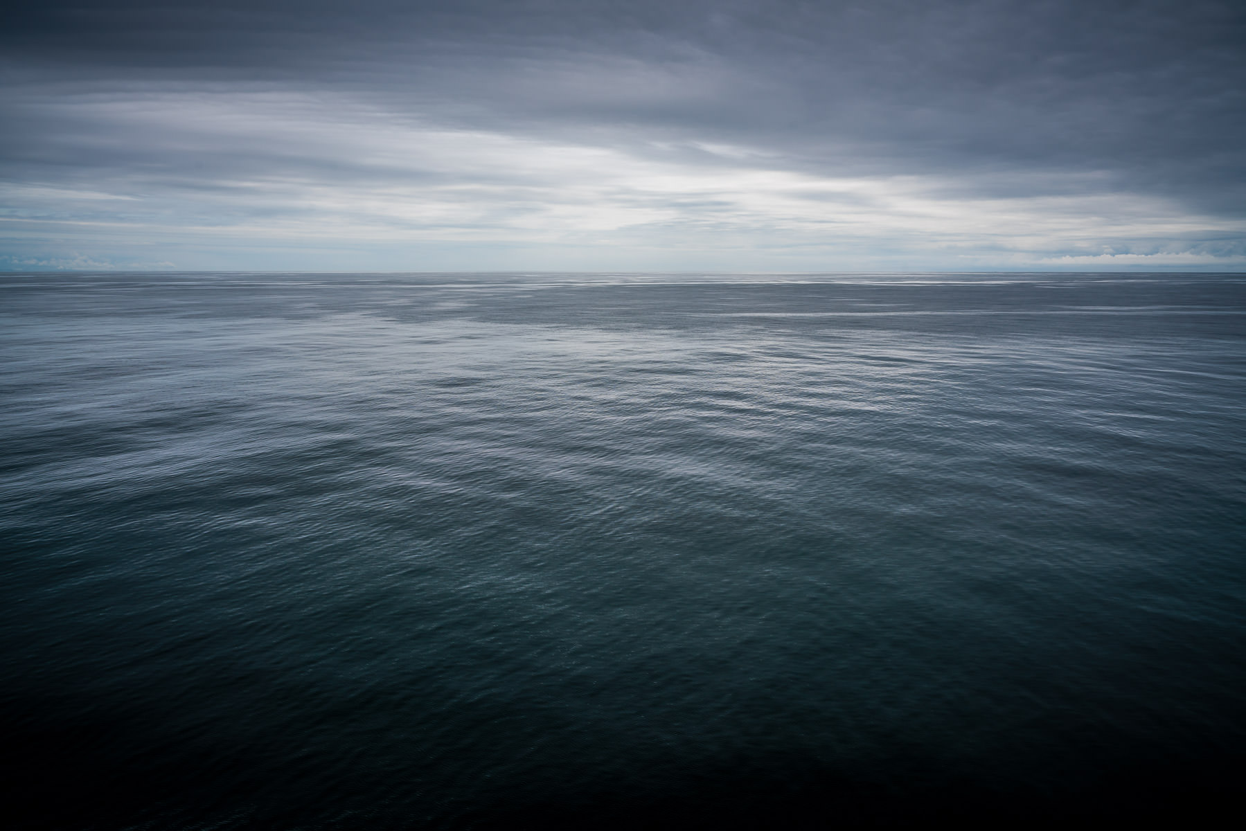 The peaceful seascape of the Strait of Juan de Fuca, northwest of Seattle.