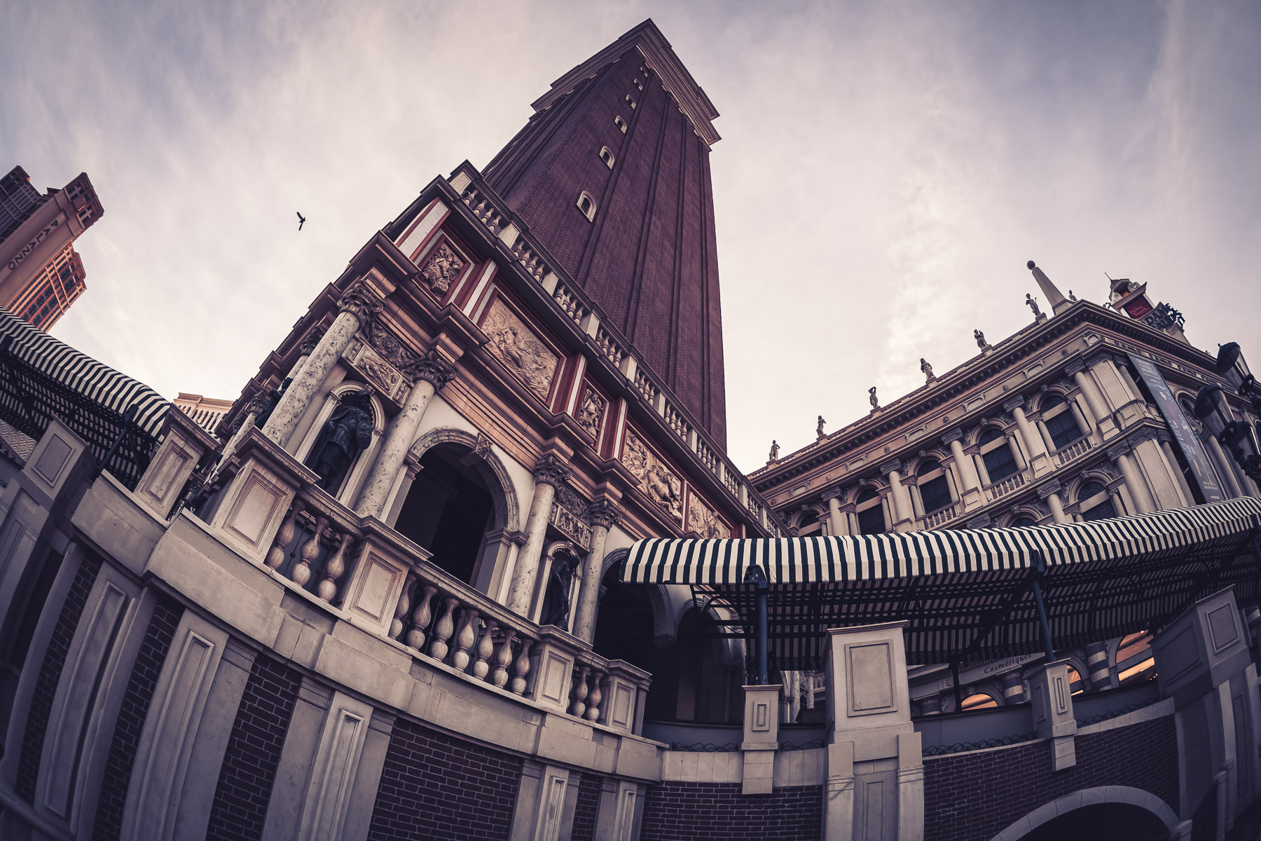 The reproduction of Venice's Campanile di San Marco at The Venetian, Las Vegas.