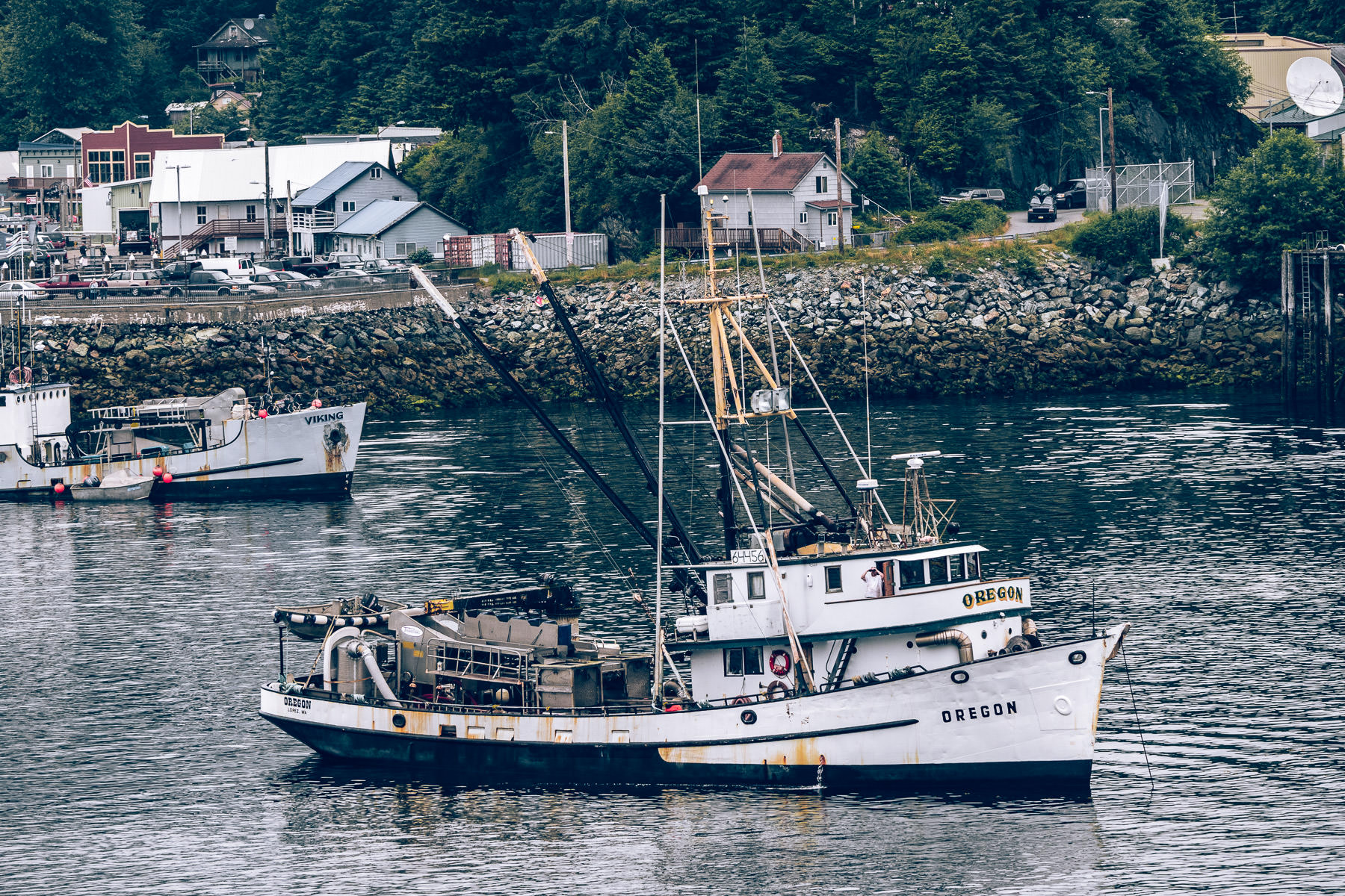 The fishing vesselOregon, spotted in the Port of Ketchikan, Alaska.