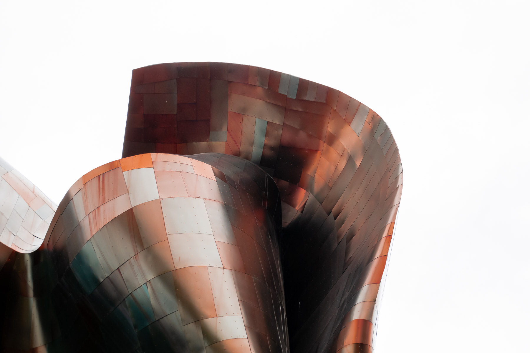 Architectural detail of Seattle's Museum of Pop Culture by architect Frank Gehry.