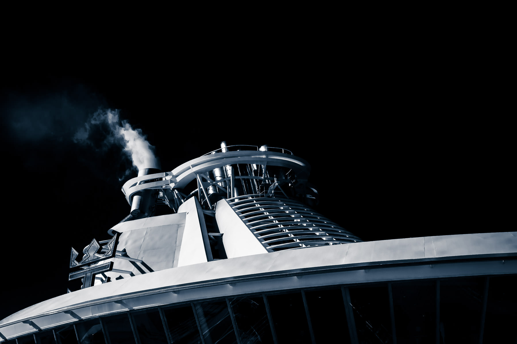 Detail of the Royal Caribbean cruise ship Liberty of the Seas.
