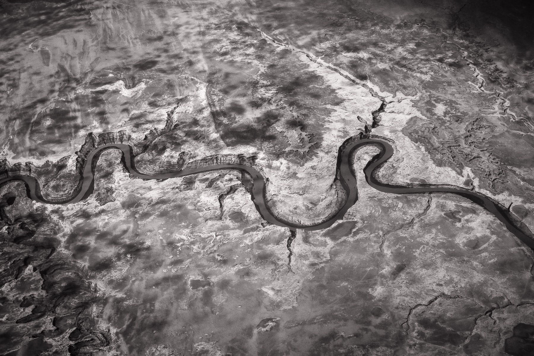 A river twists through the northern New Mexico desert.