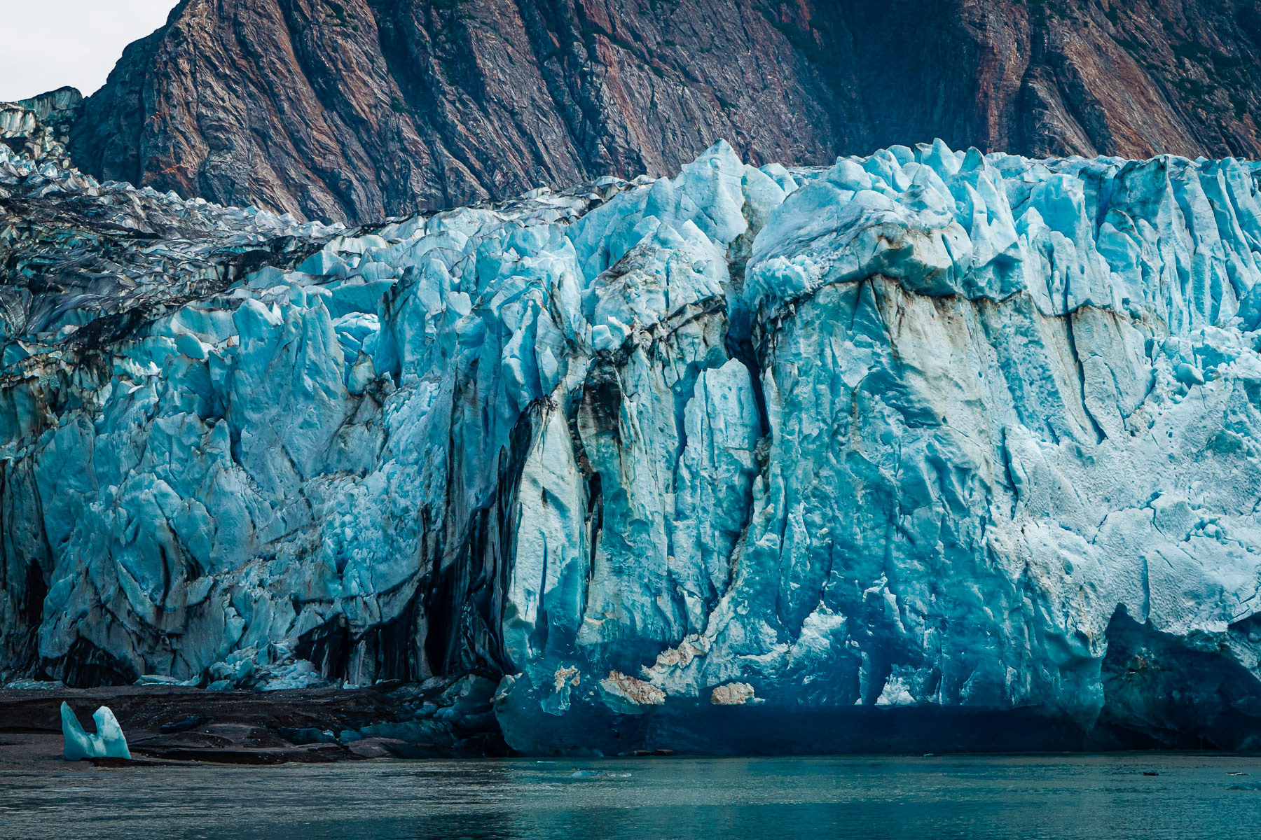 Detail of Alaska's North Sawyer Glacier at Tracy Arm Fjord.