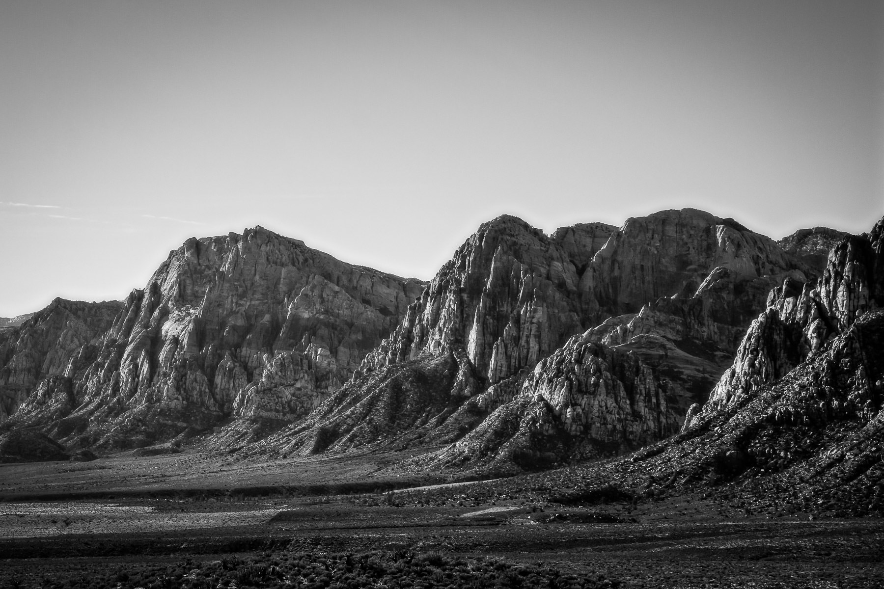 The rocky pinnacles of Nevada's Red Rock Canyon.