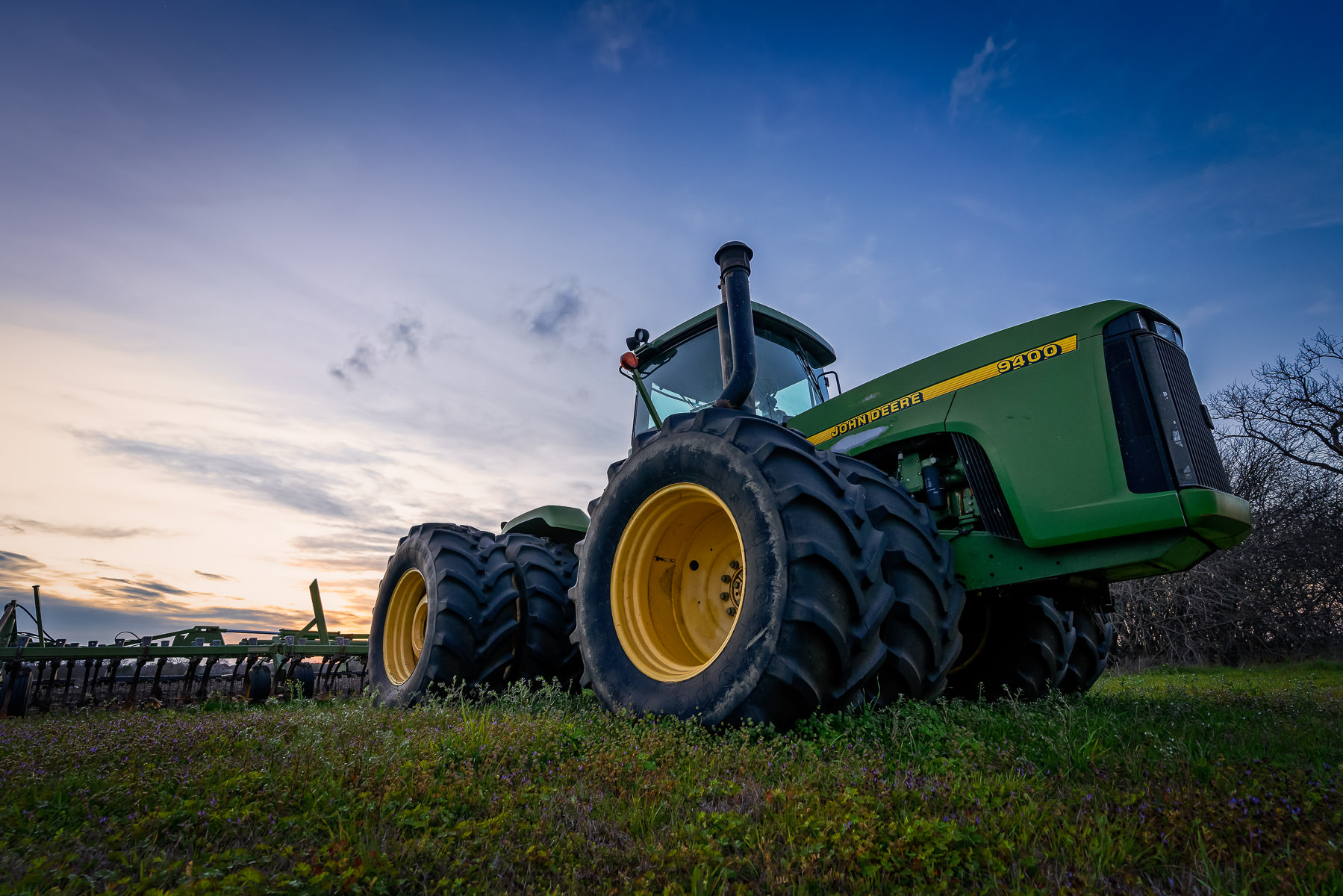 A John Deere tractor spotted on a McKinney, Texas, farm.