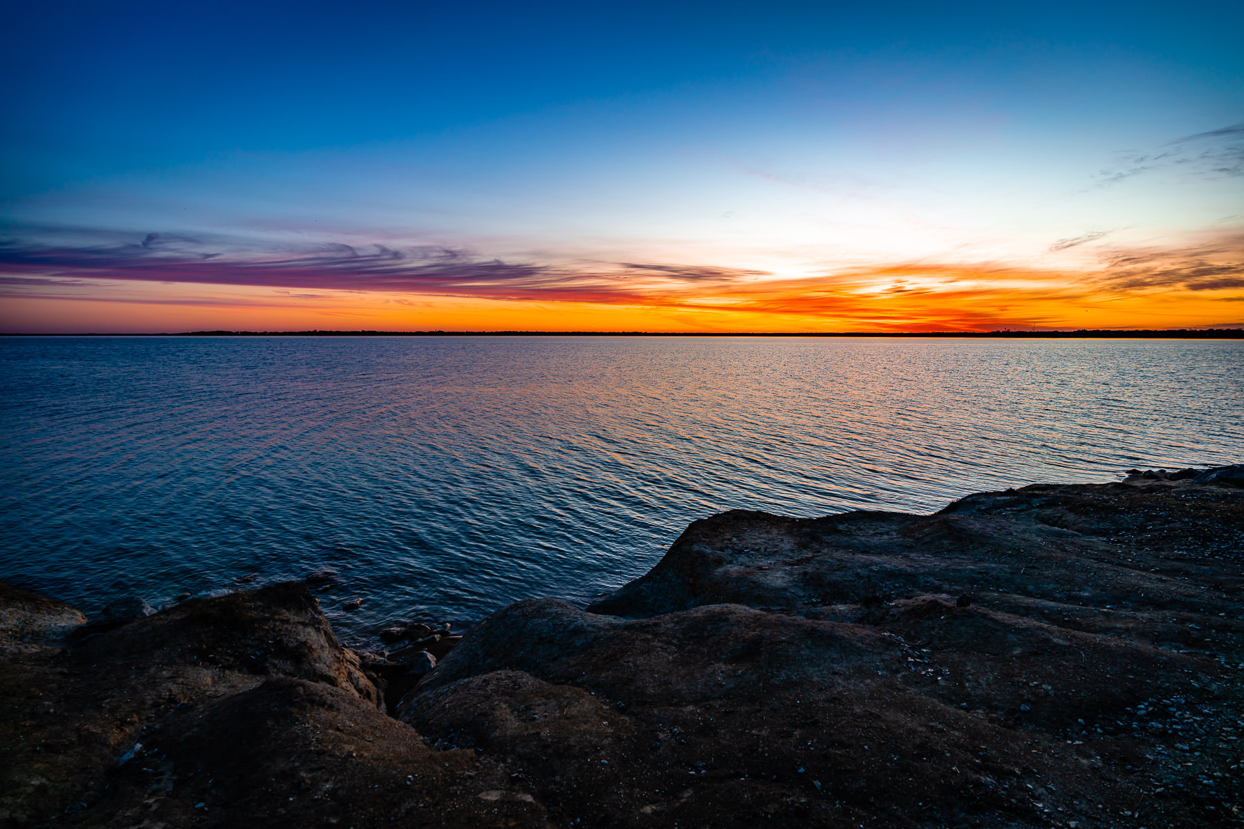 The sun rises on North Texas' Lake Lavon