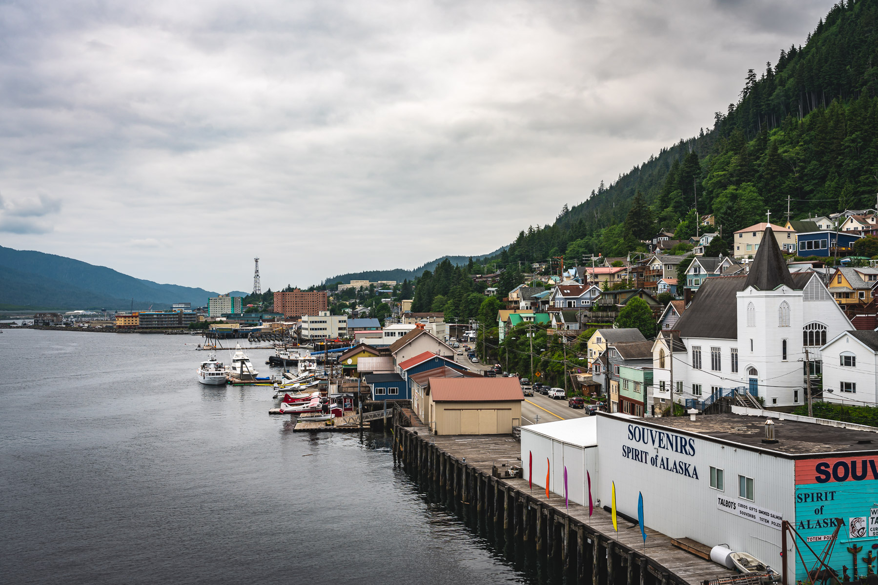 The Ketchikan, Alaska, waterfront.