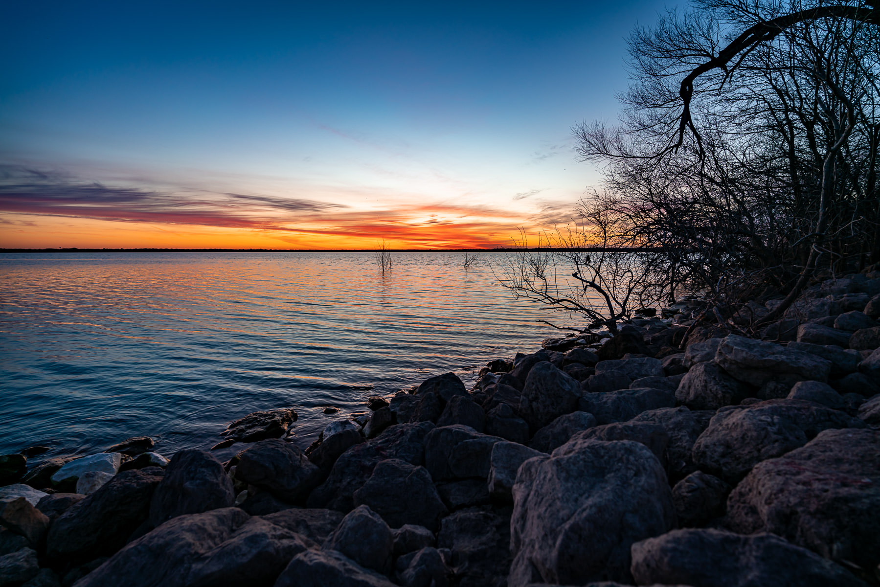 First light on North Texas' Lake Lavon.