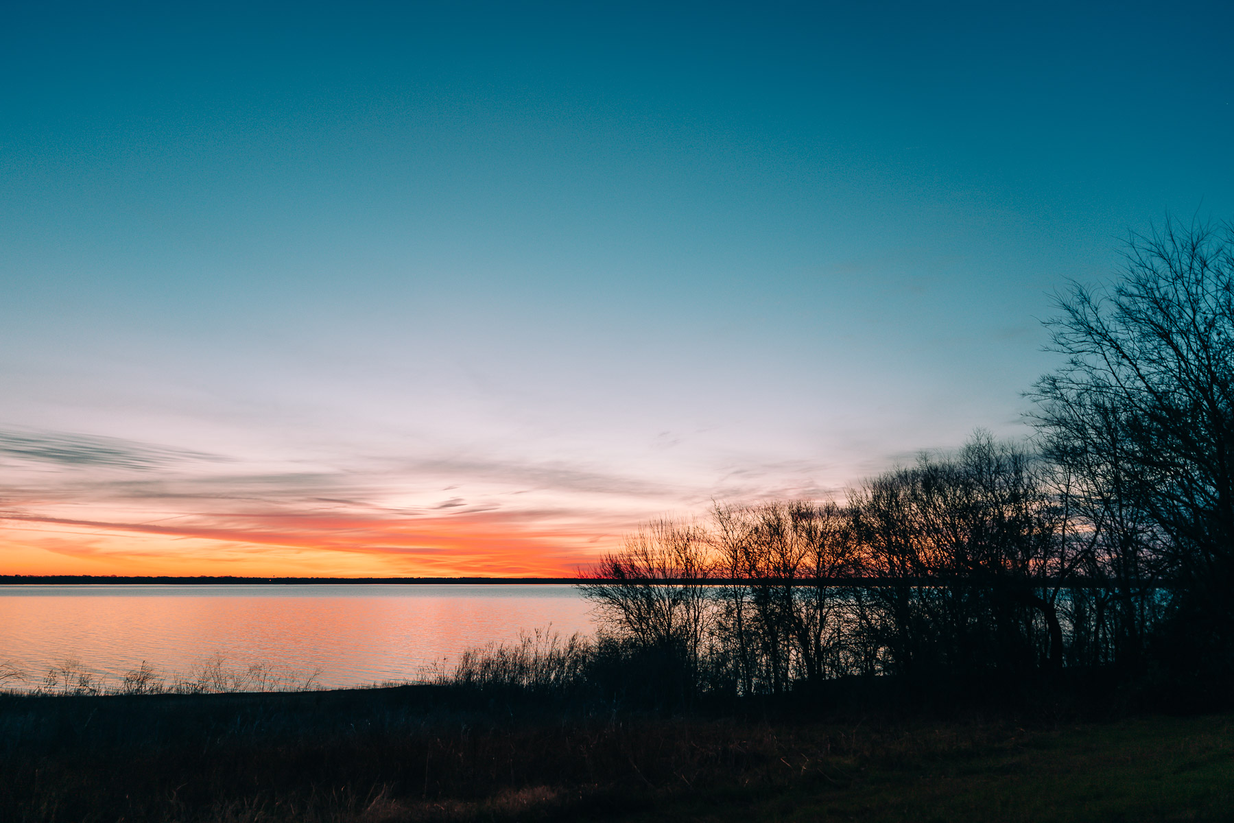 Dawn at North Texas' Lake Lavon.
